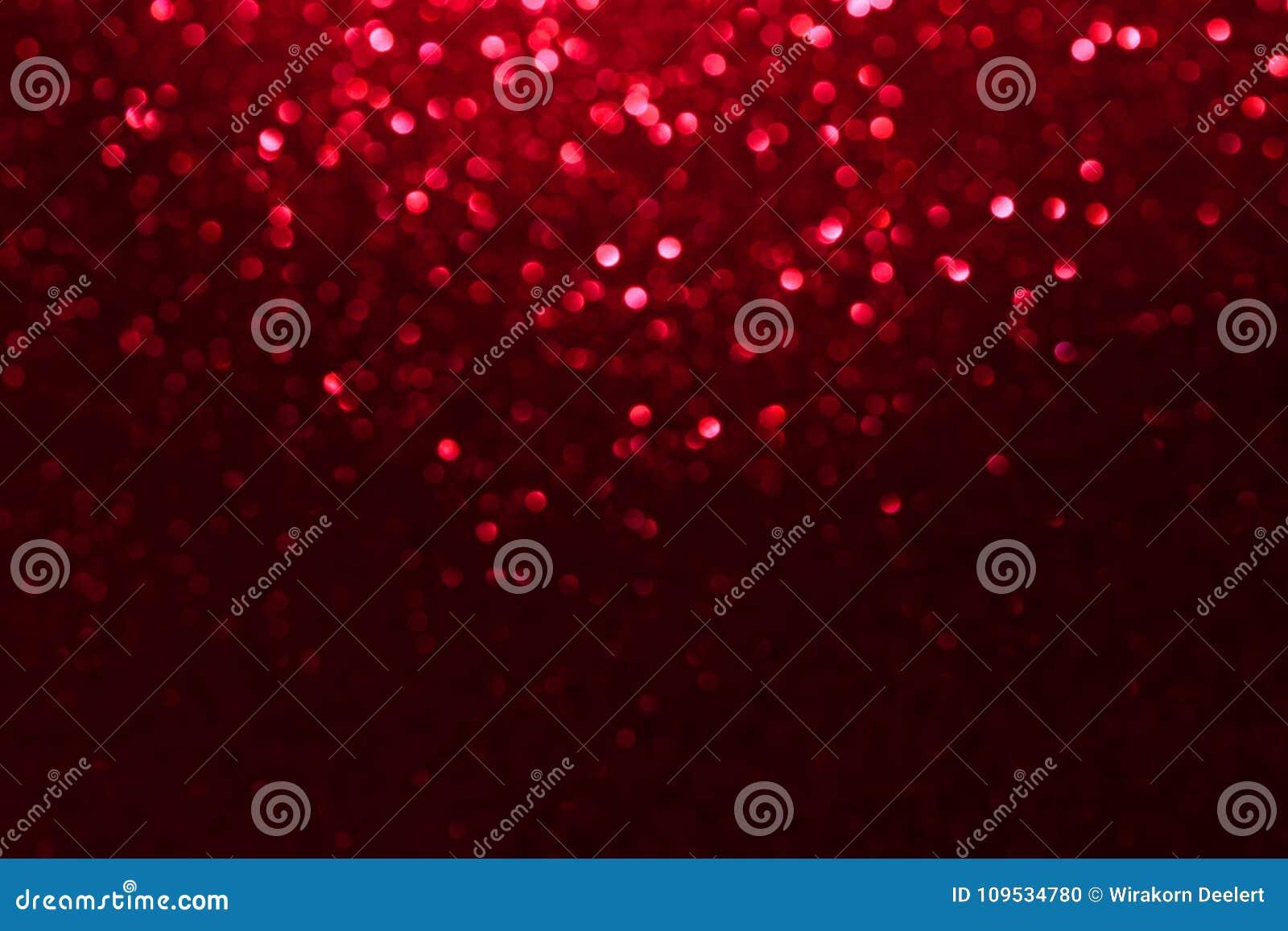 Czerwony błyskotliwości bokeh zaświeca Zamazanego abstrakcjonistycznego tło dla walentynek, urodziny, rocznicy, ślubu, nowego rok
