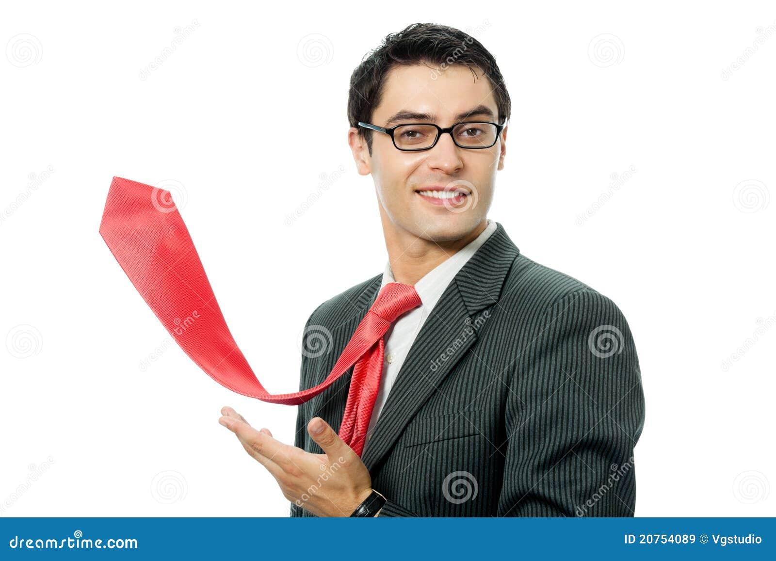 Czerwony biznesmena krawat