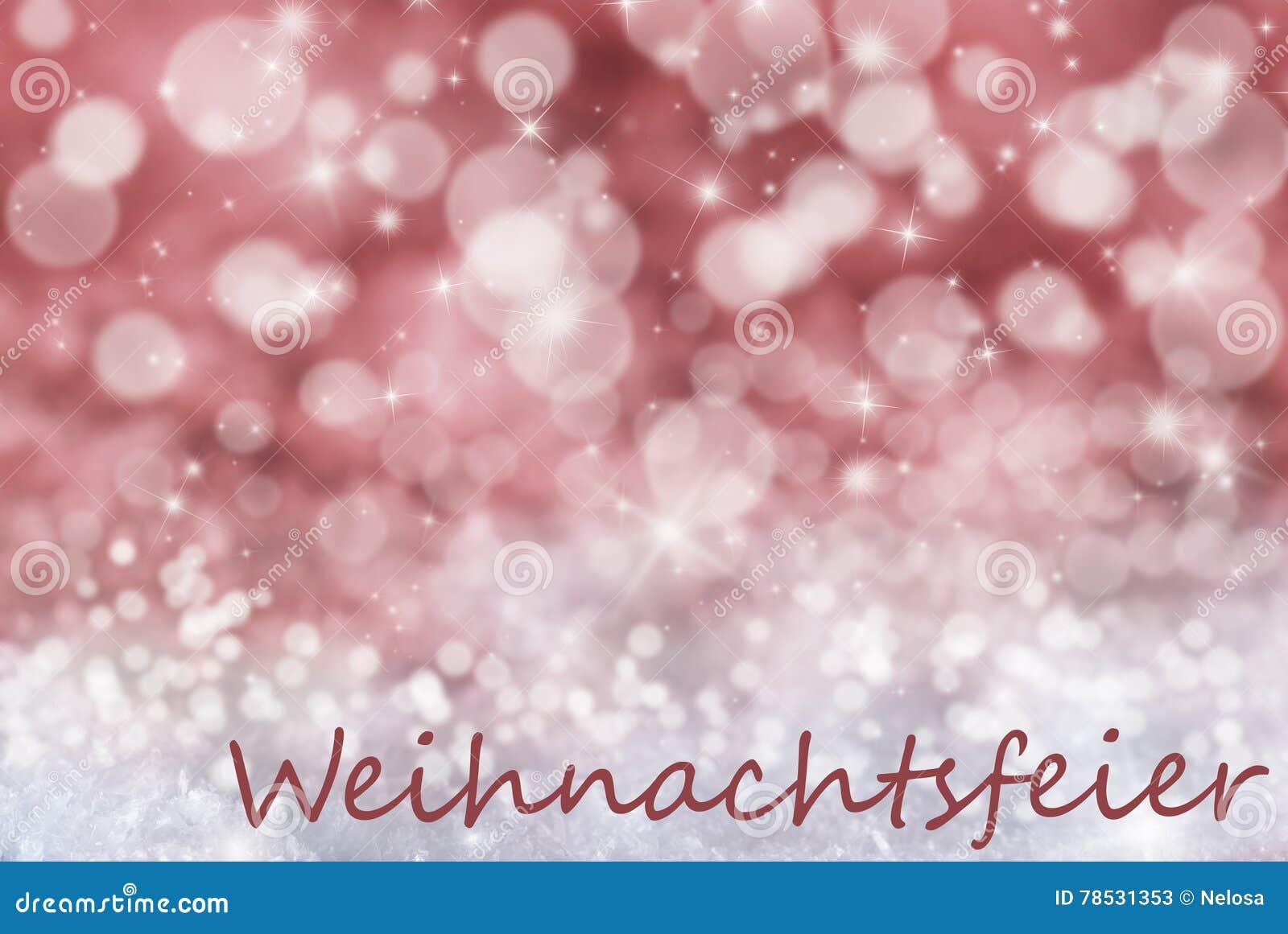 Czerwony Bokeh Tło śnieg Weihnachtsfeier Znaczy Przyjęcia