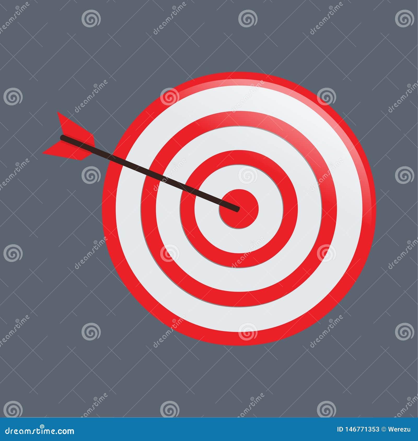Czerwony cel z strzałka wektoru ilustracją