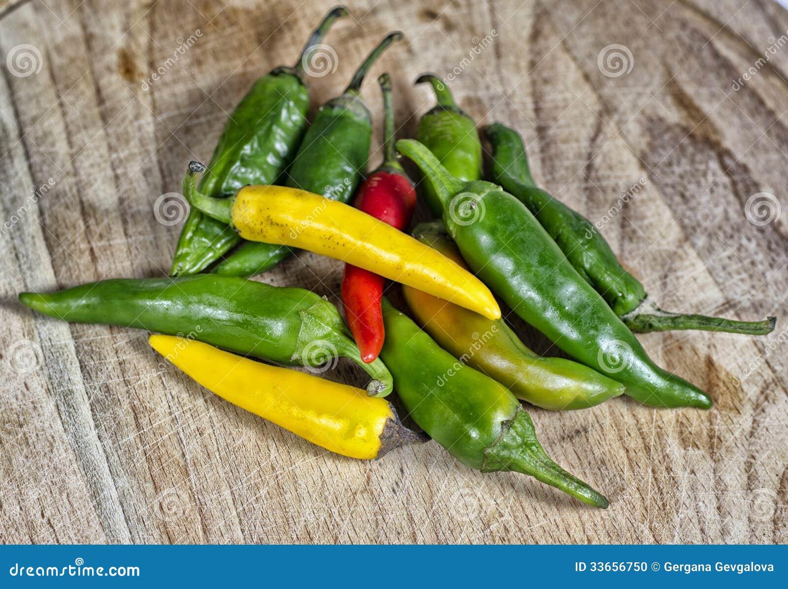 Czerwony chili inny i pieprz pieprzymy
