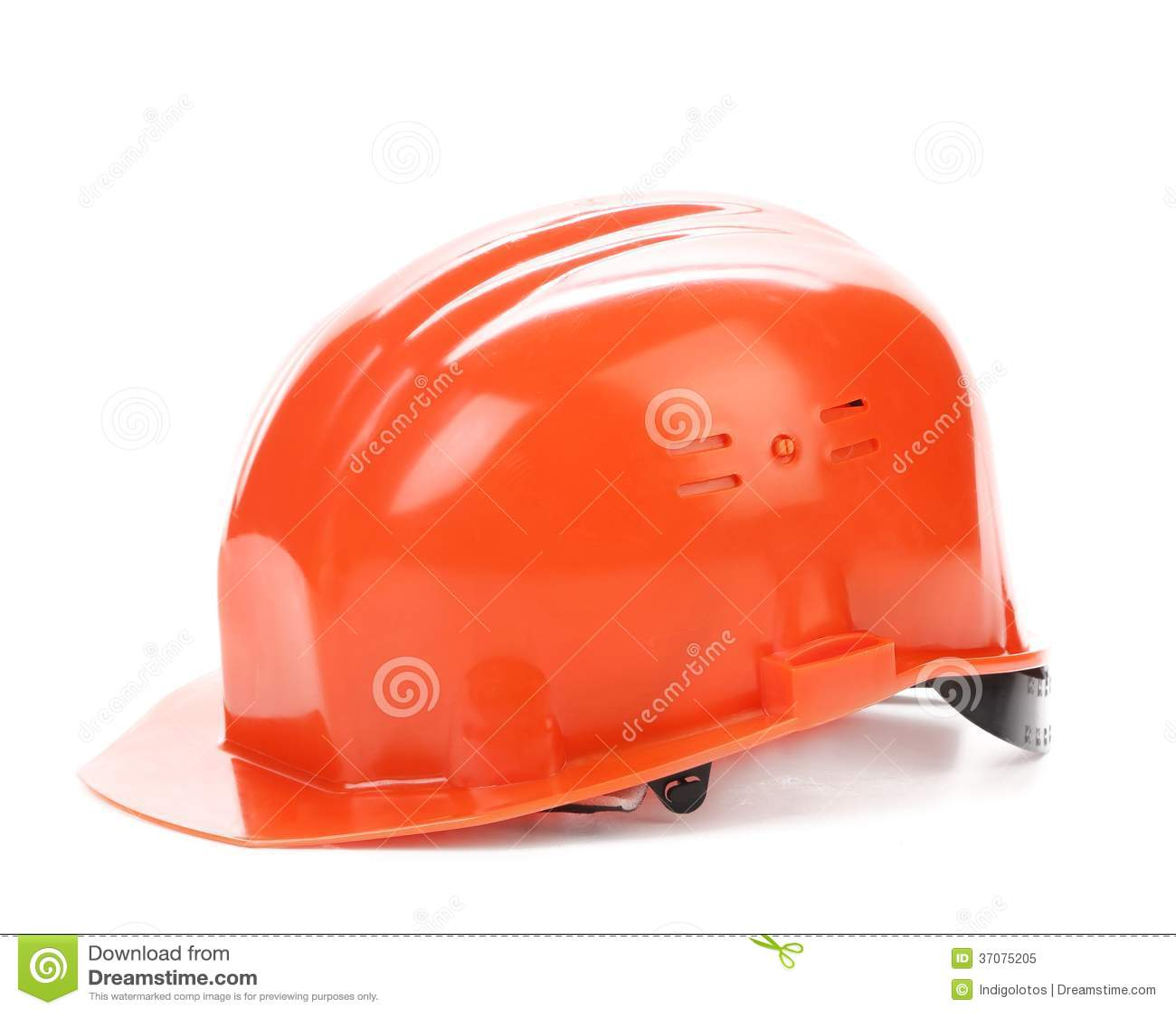 Download Czerwony ciężki kapelusz. obraz stock. Obraz złożonej z ochrona - 37075205