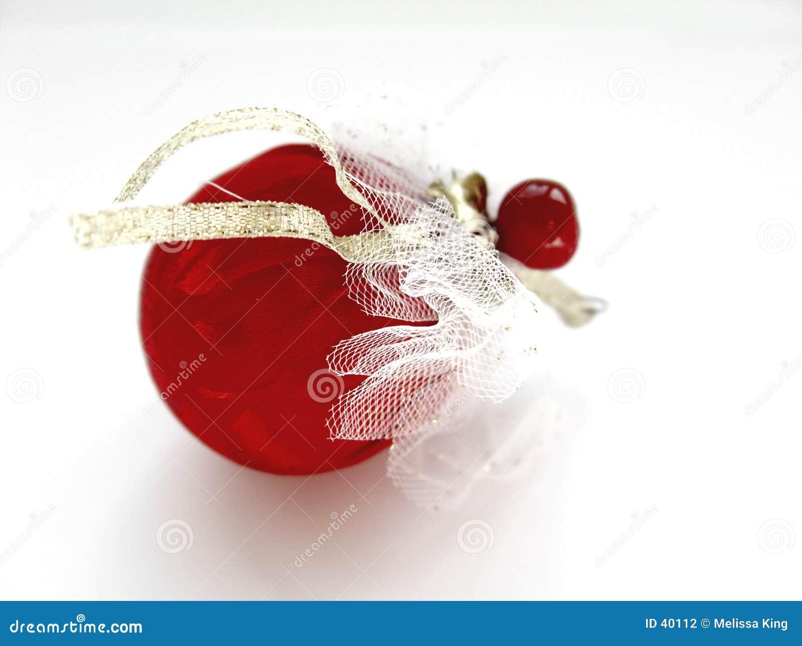Czerwony dekoracji świątecznej