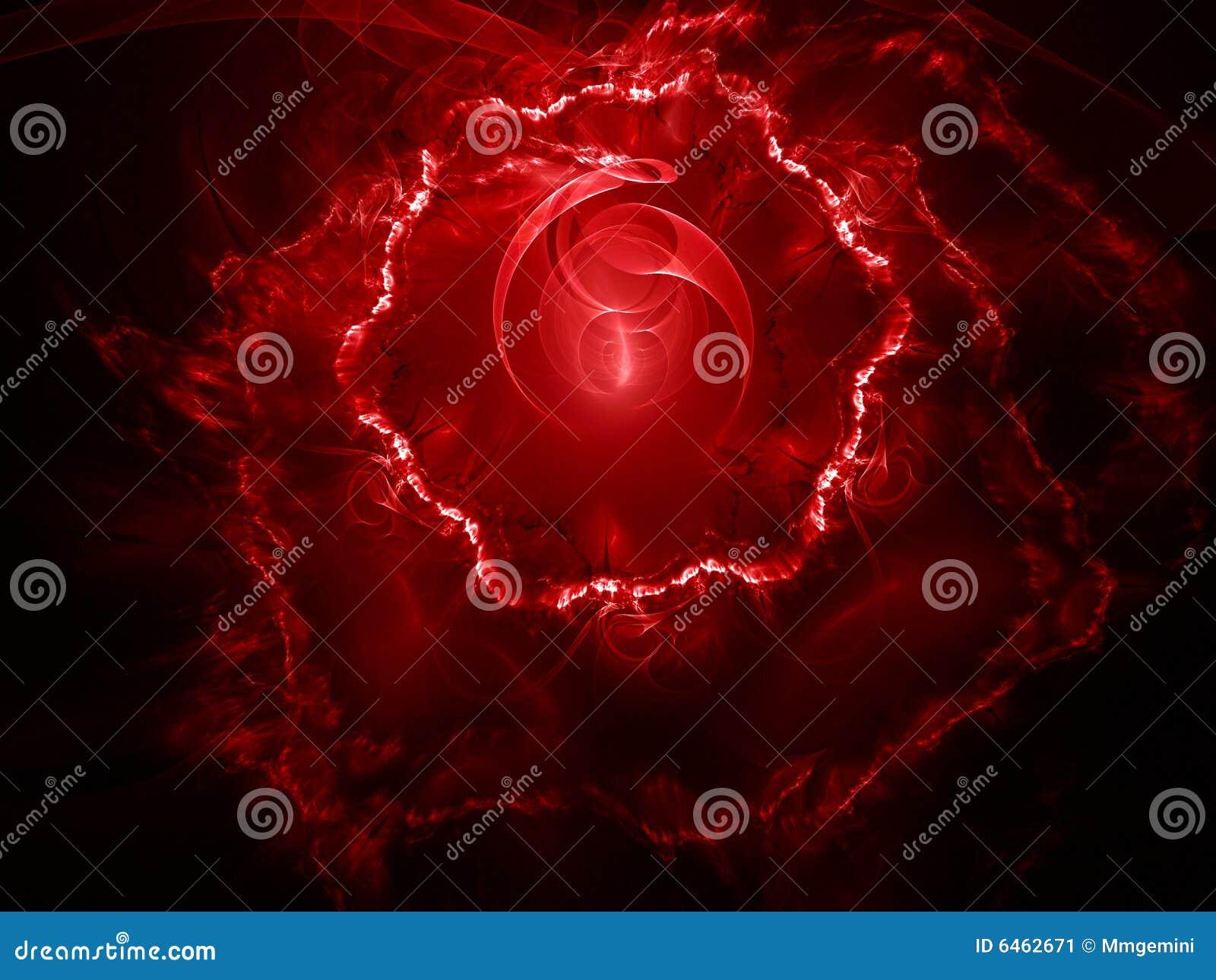 Czerwony fractal tła