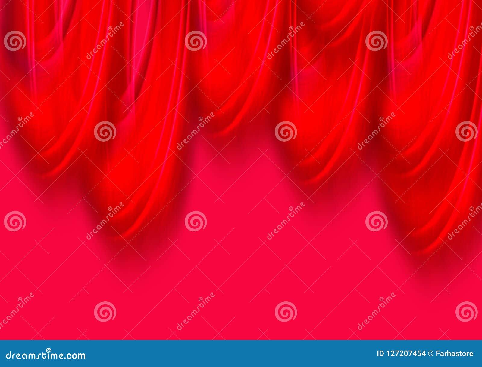 Czerwony kolorowy tapetowy tło i abstrakcjonistyczny akrylowy obraz Gredient rozmyty tło