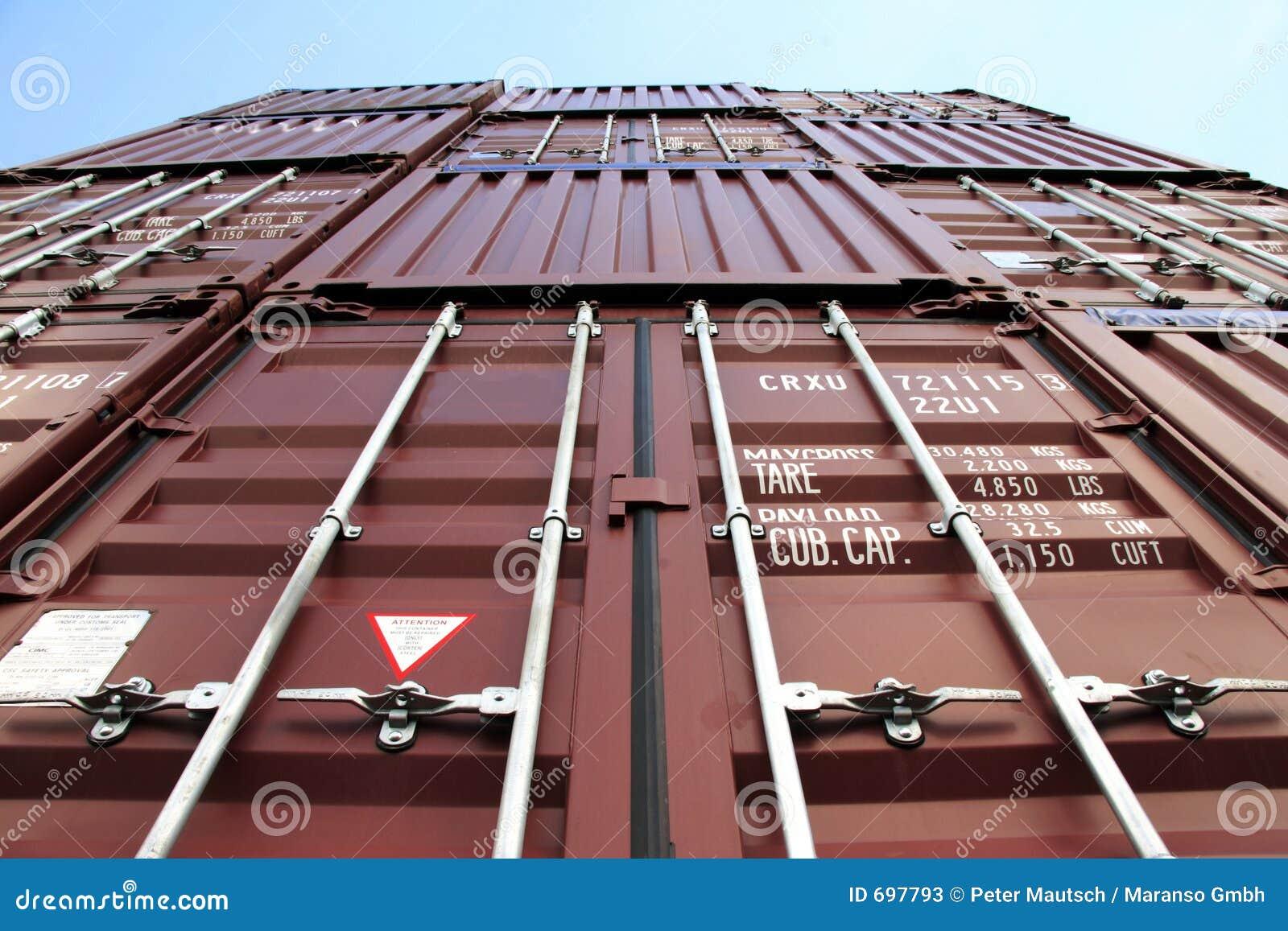 Czerwony kontenera