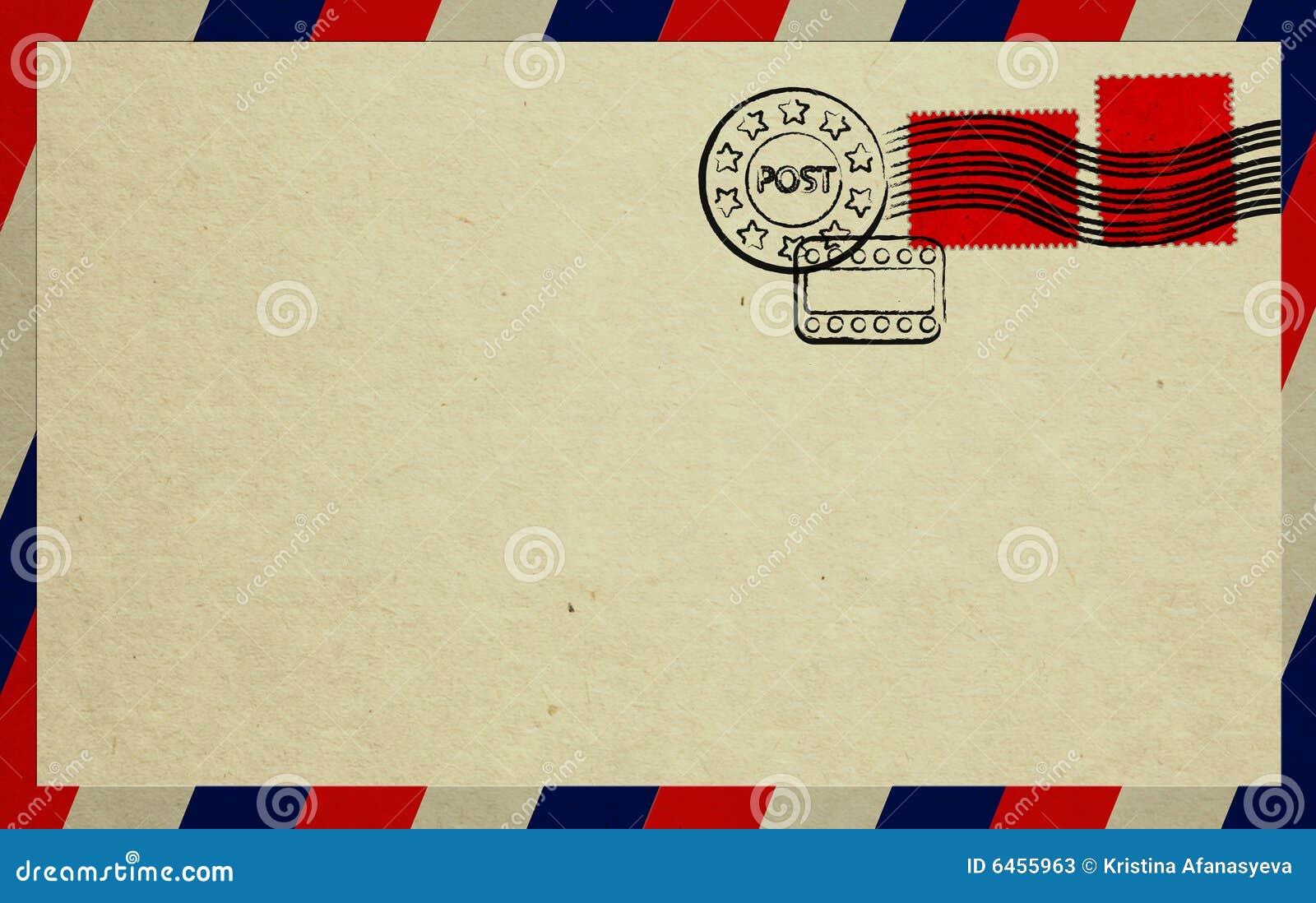 Czerwony kopertowi znaczków