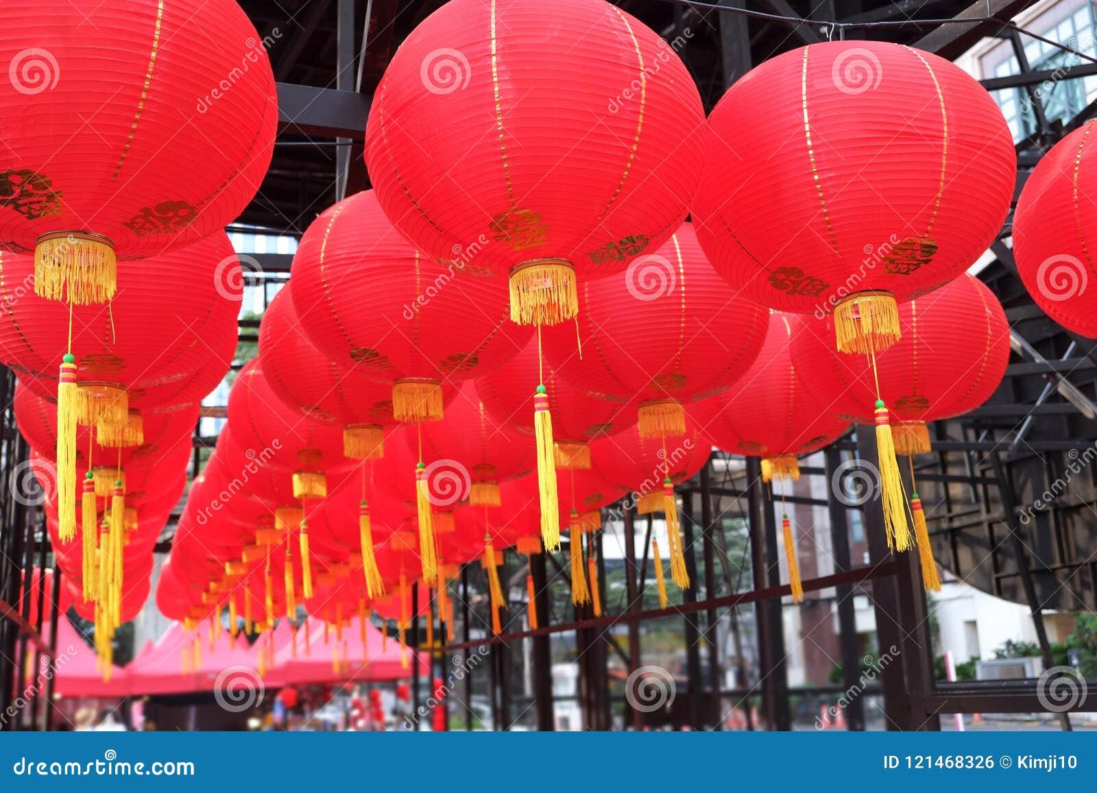 Czerwony lampion świętowanie
