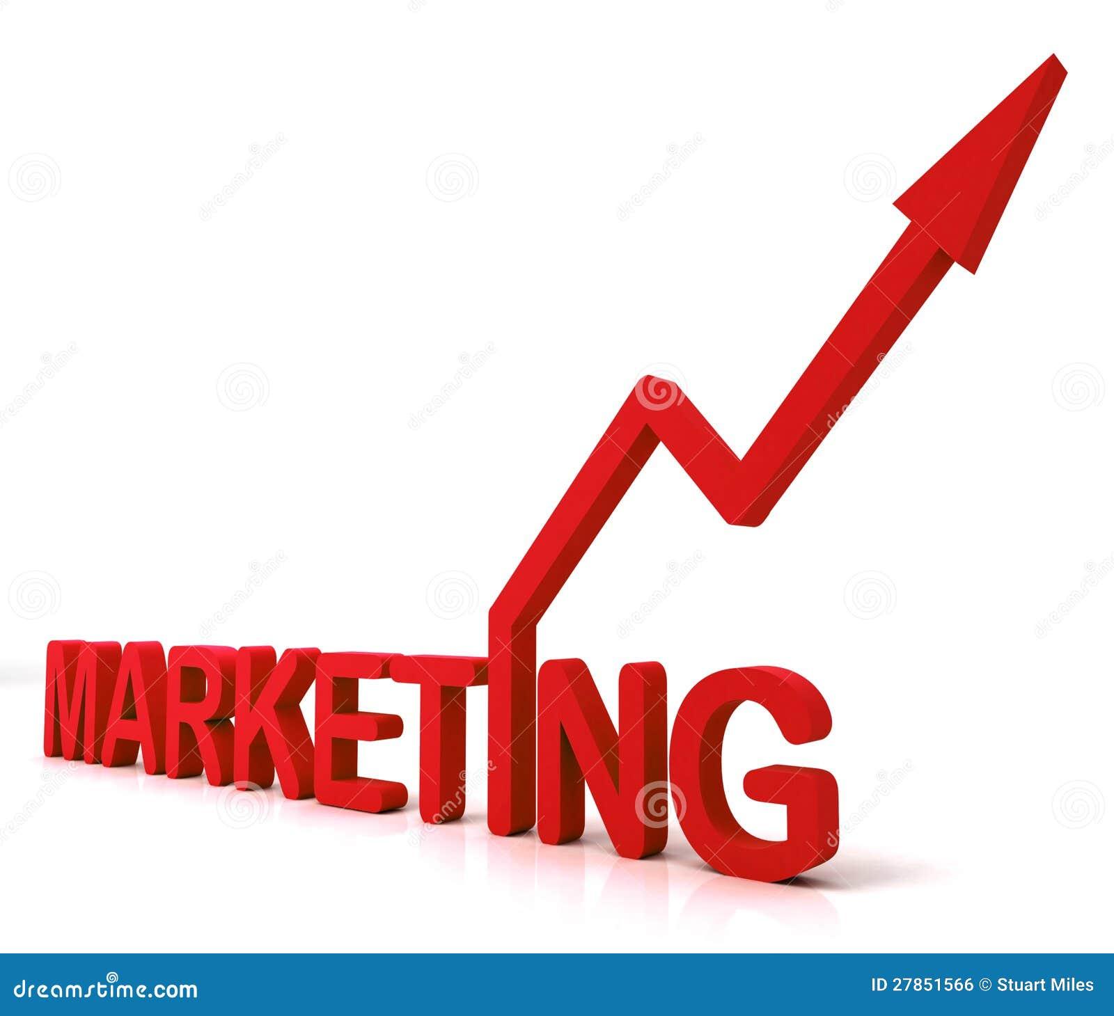Czerwony marketingu słowo Znaczy Promocyjne sprzedaże I reklamę