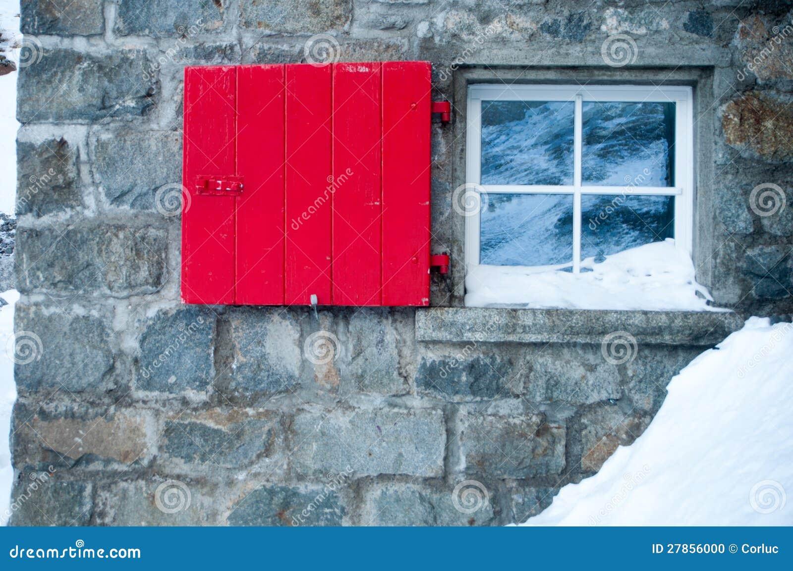 Czerwony okno