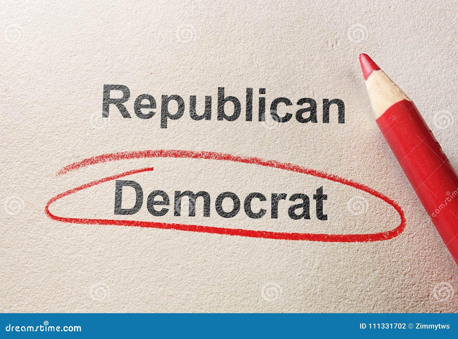 Czerwony okrąg Demokrata