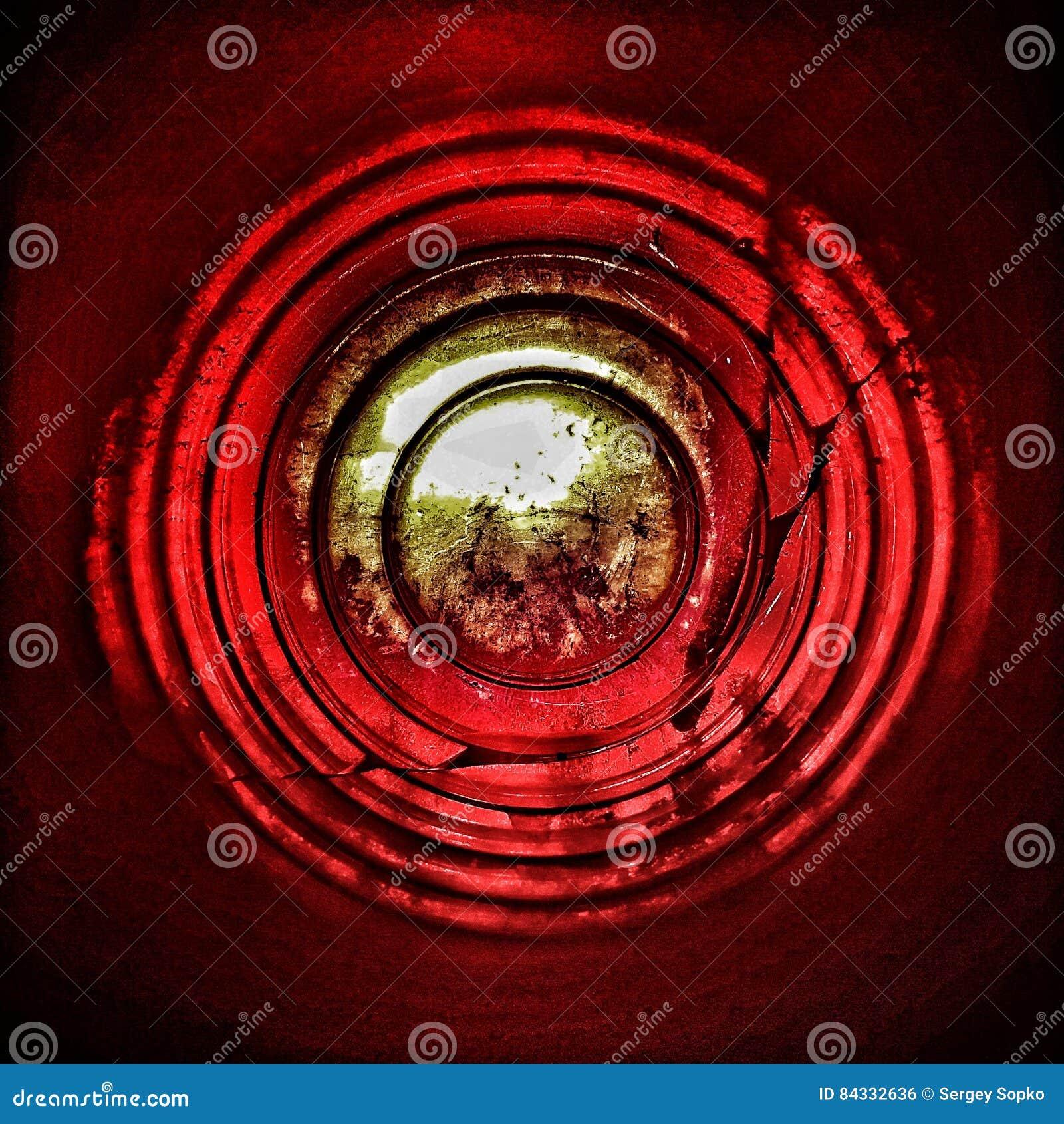 CZERWONY okrąg Tło abstrakcja Futage