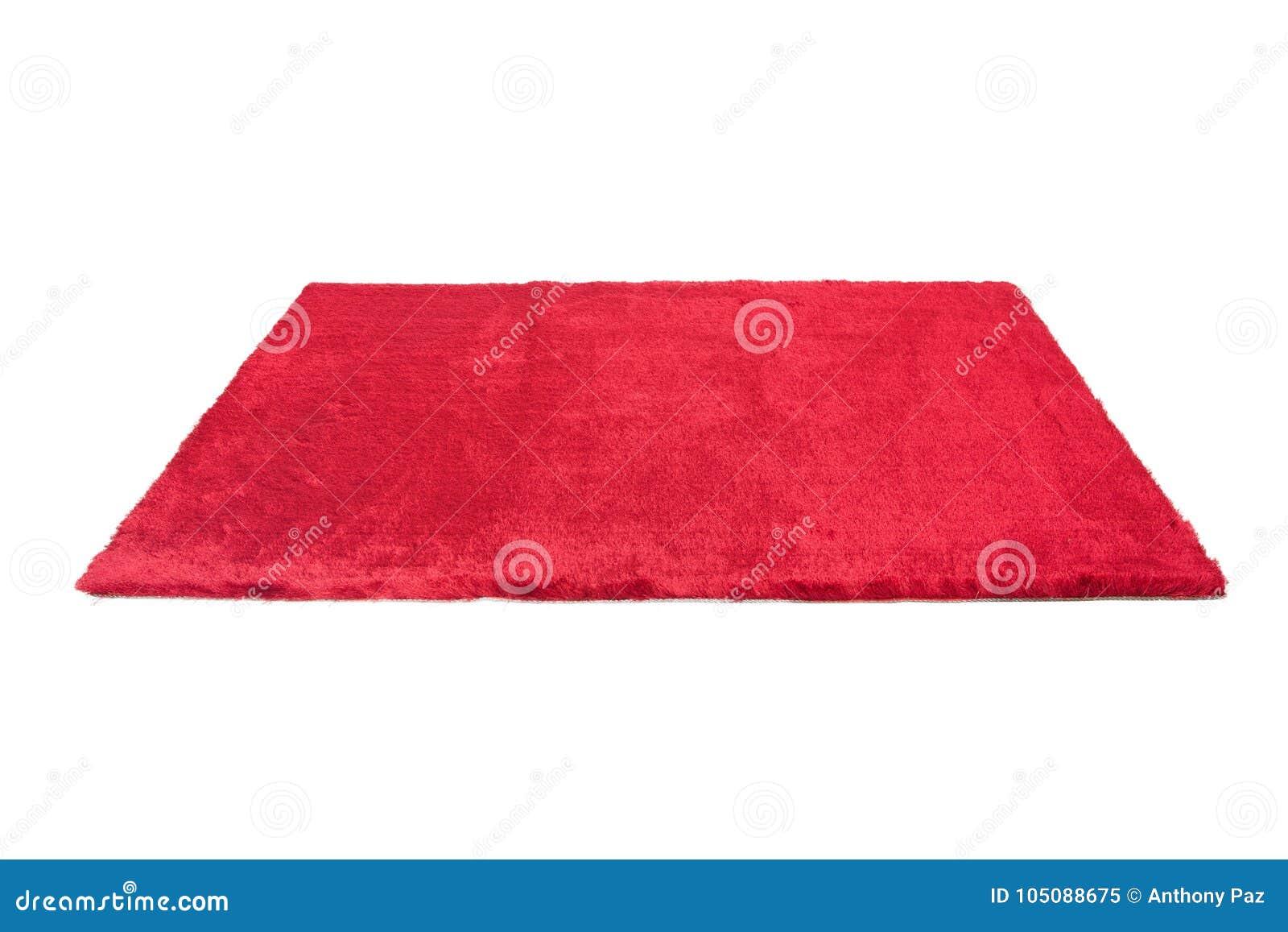Czerwony owłosiony dywan odosobniony