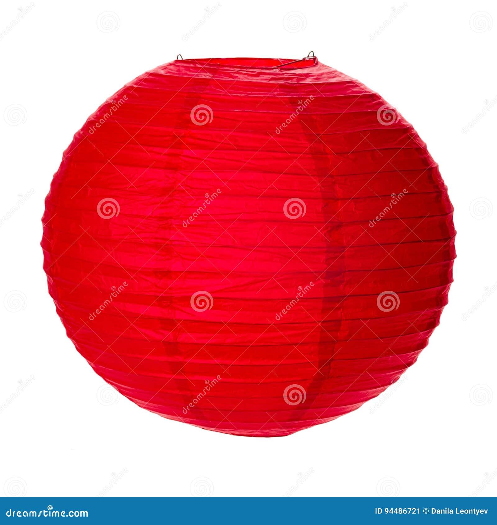 Czerwony Papierowy lampion