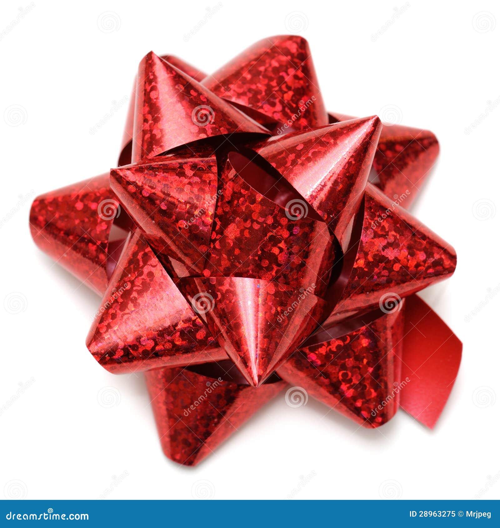 Czerwony prezenta łęk