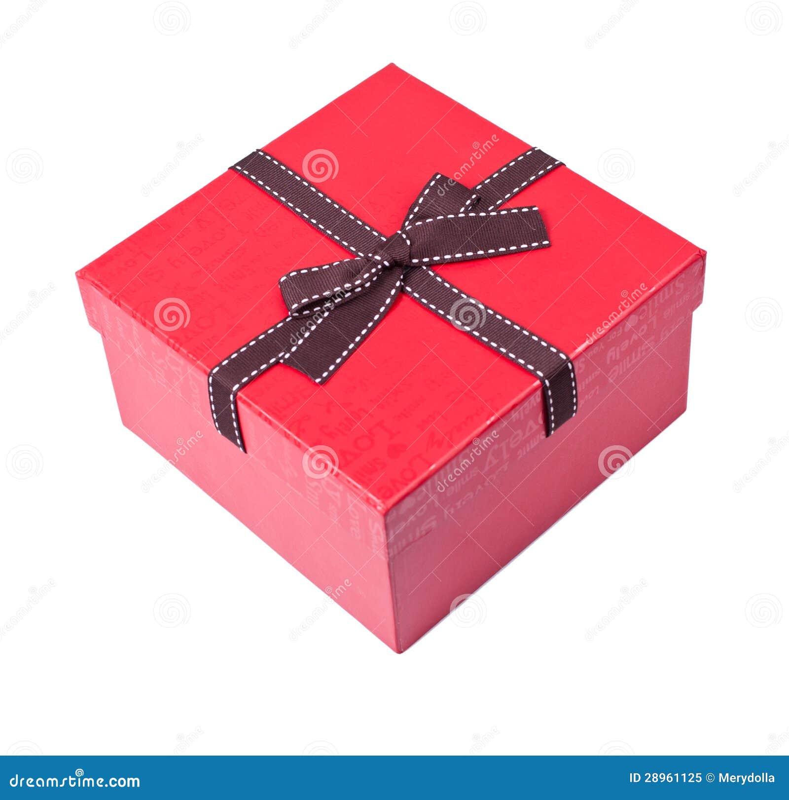 Czerwony prezenta pudełko