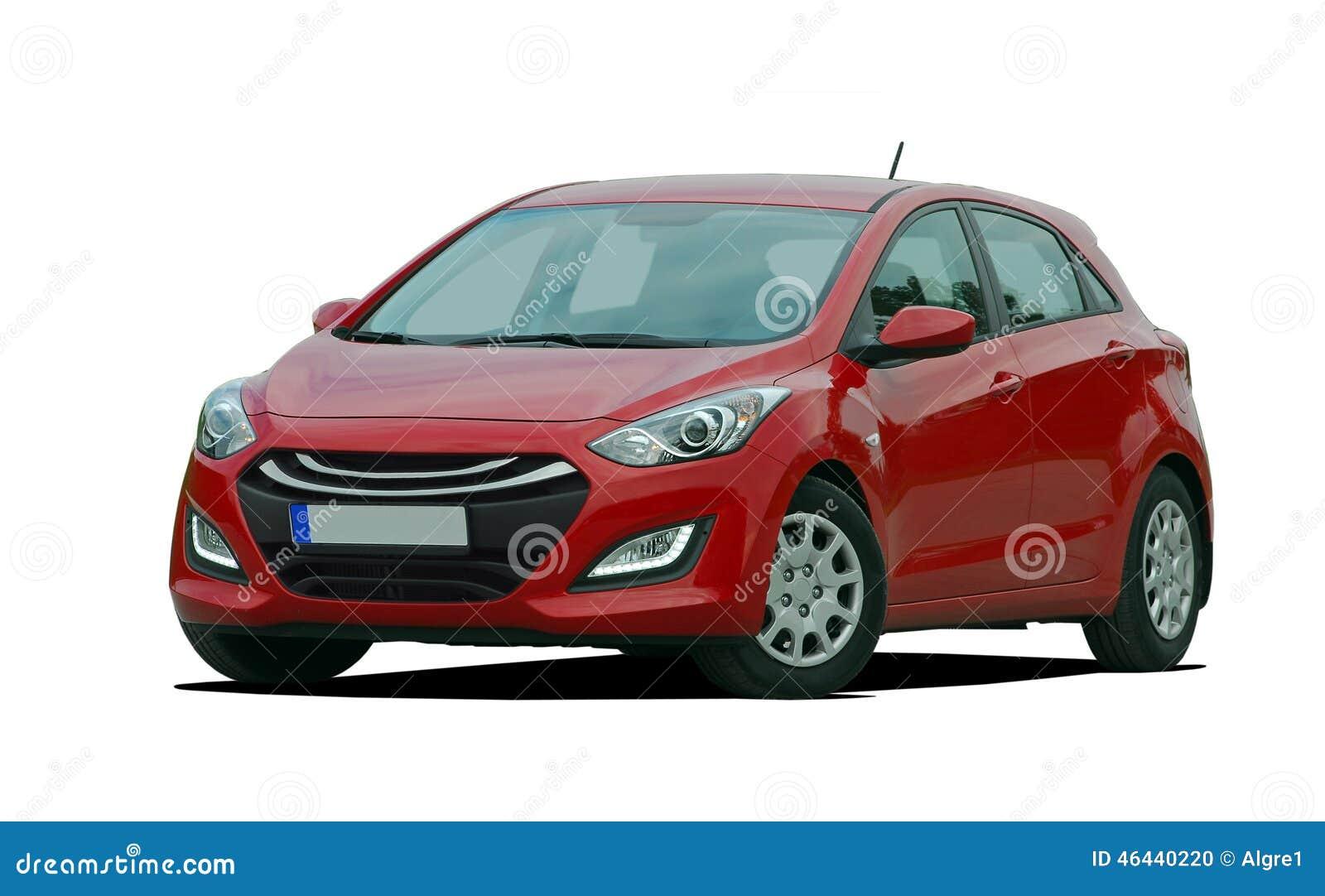 Zupełnie nowe Czerwony samochód osobowy zdjęcie stock. Obraz złożonej z WO44