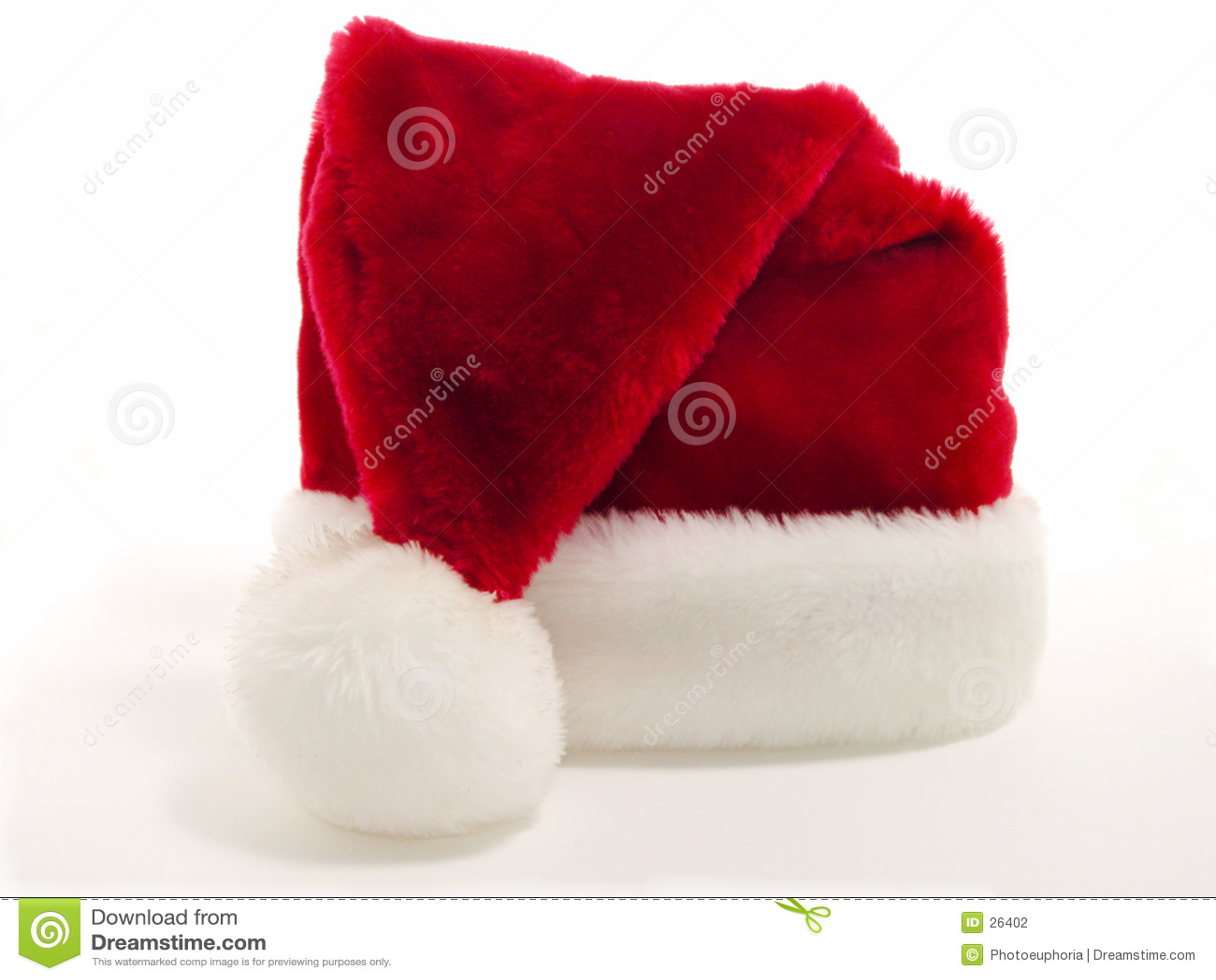 Download Czerwony Santa Biały Kapelusz Zdjęcie Stock - Obraz złożonej z sezon, czerwień: 26402