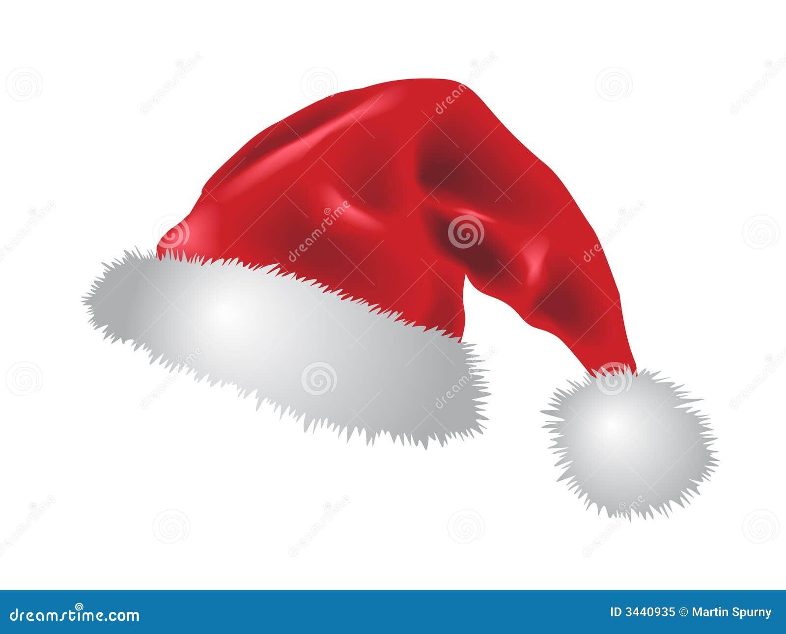 Czerwony Santa claus kapelusz