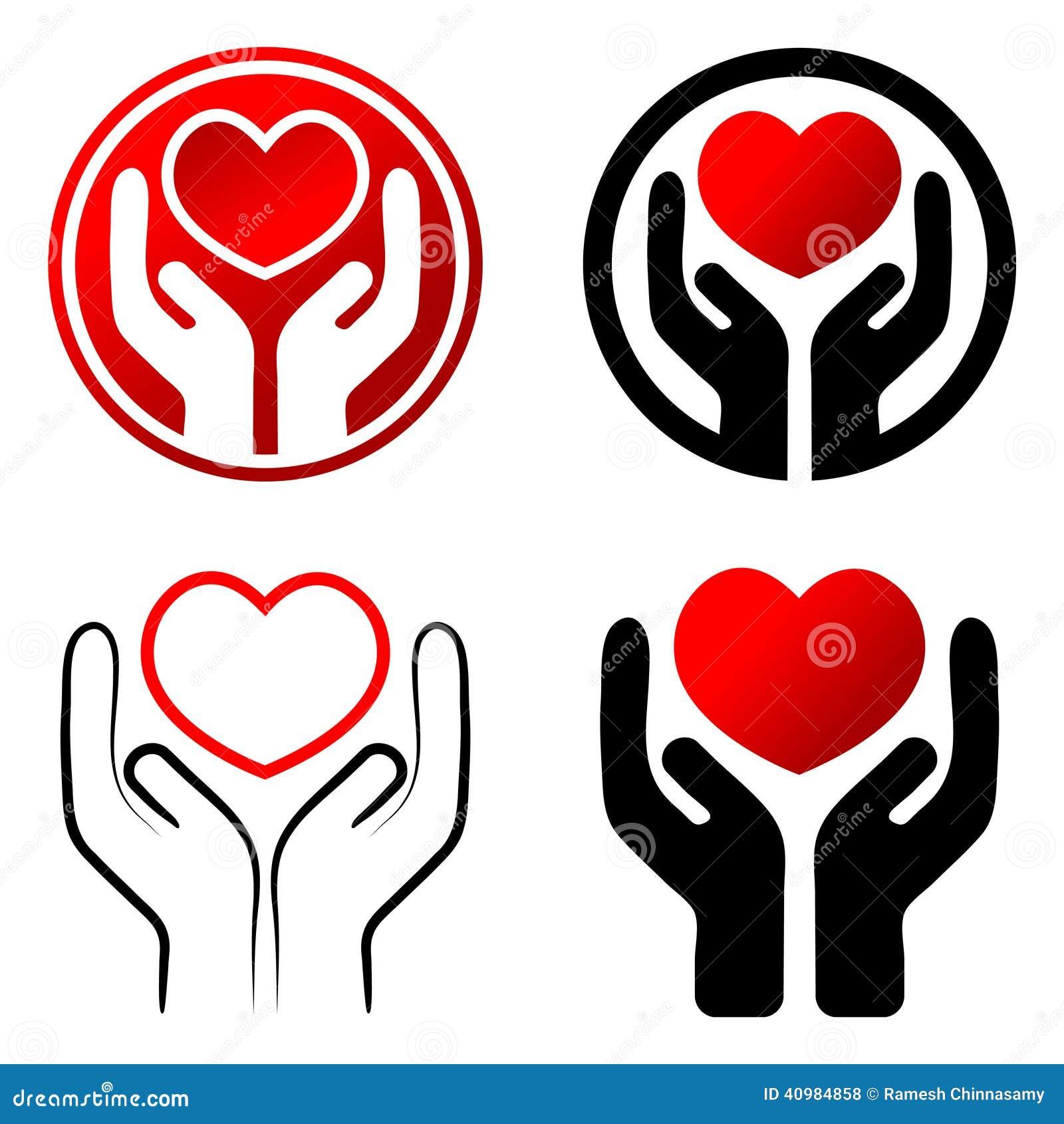 Czerwony serce w rękach