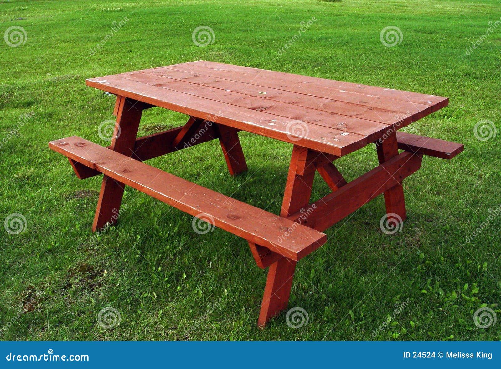 Czerwony stół