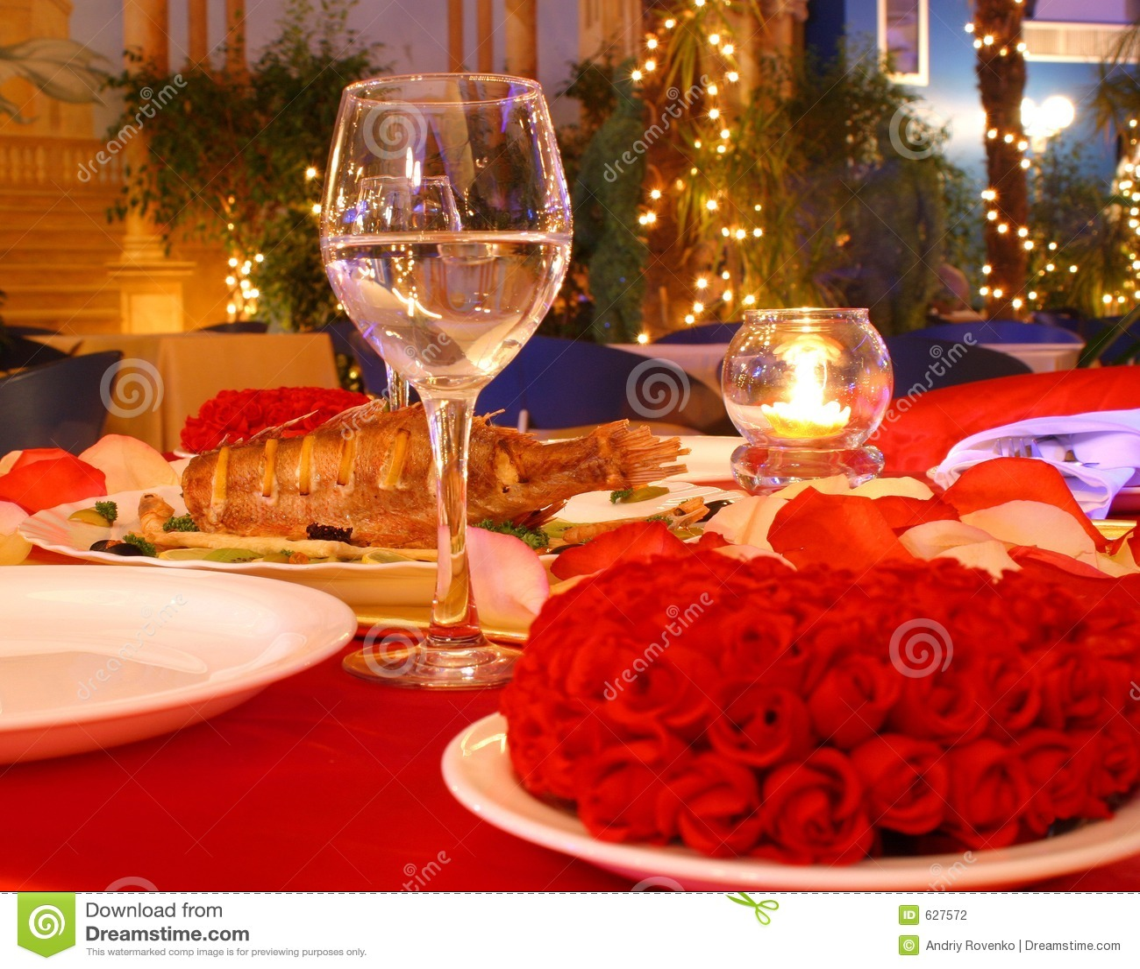 Czerwony tabeli obiad