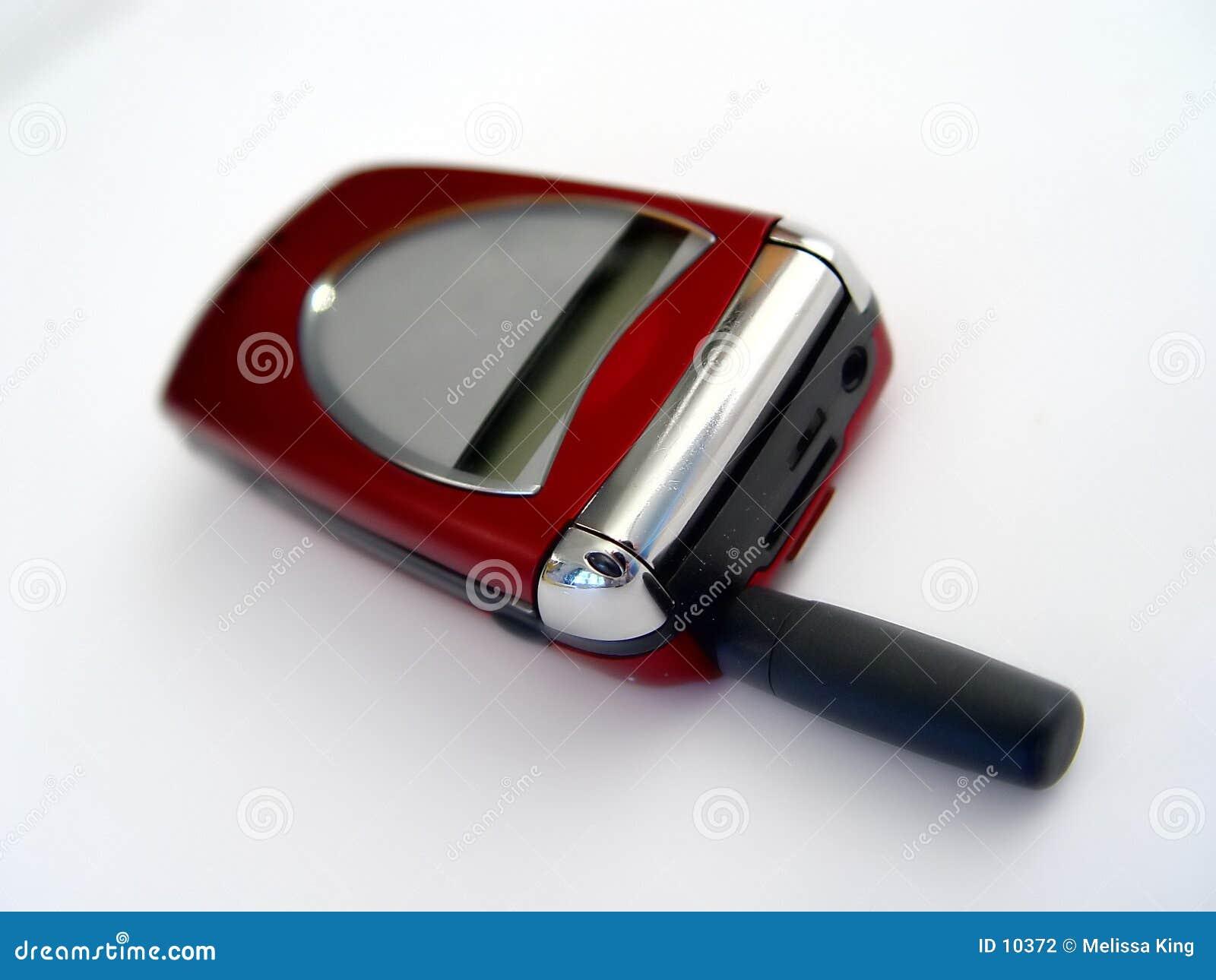 Czerwony telefon komórkowy