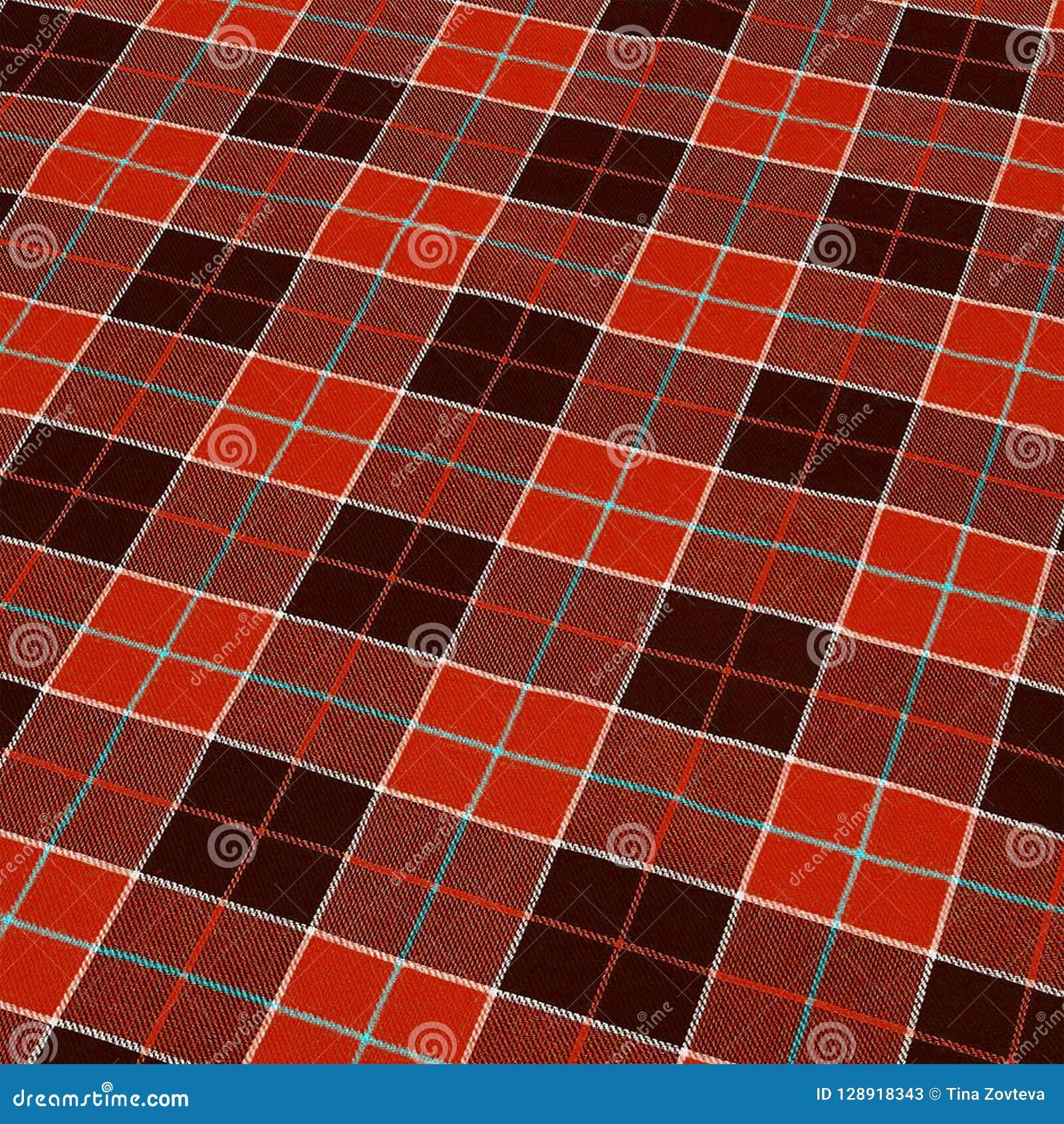 Czerwony w kratkę tkaniny tło
