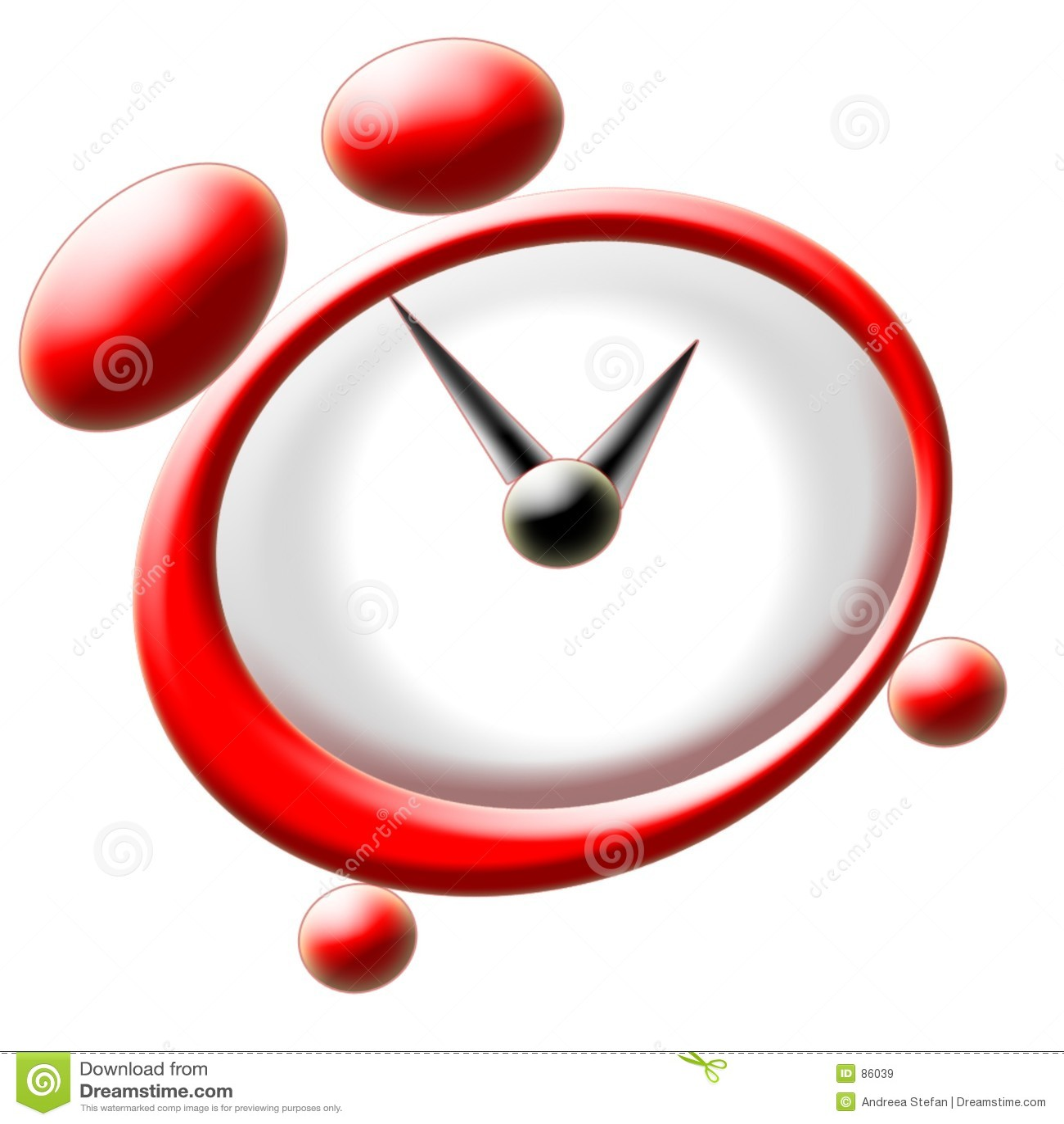 Czerwony zegara