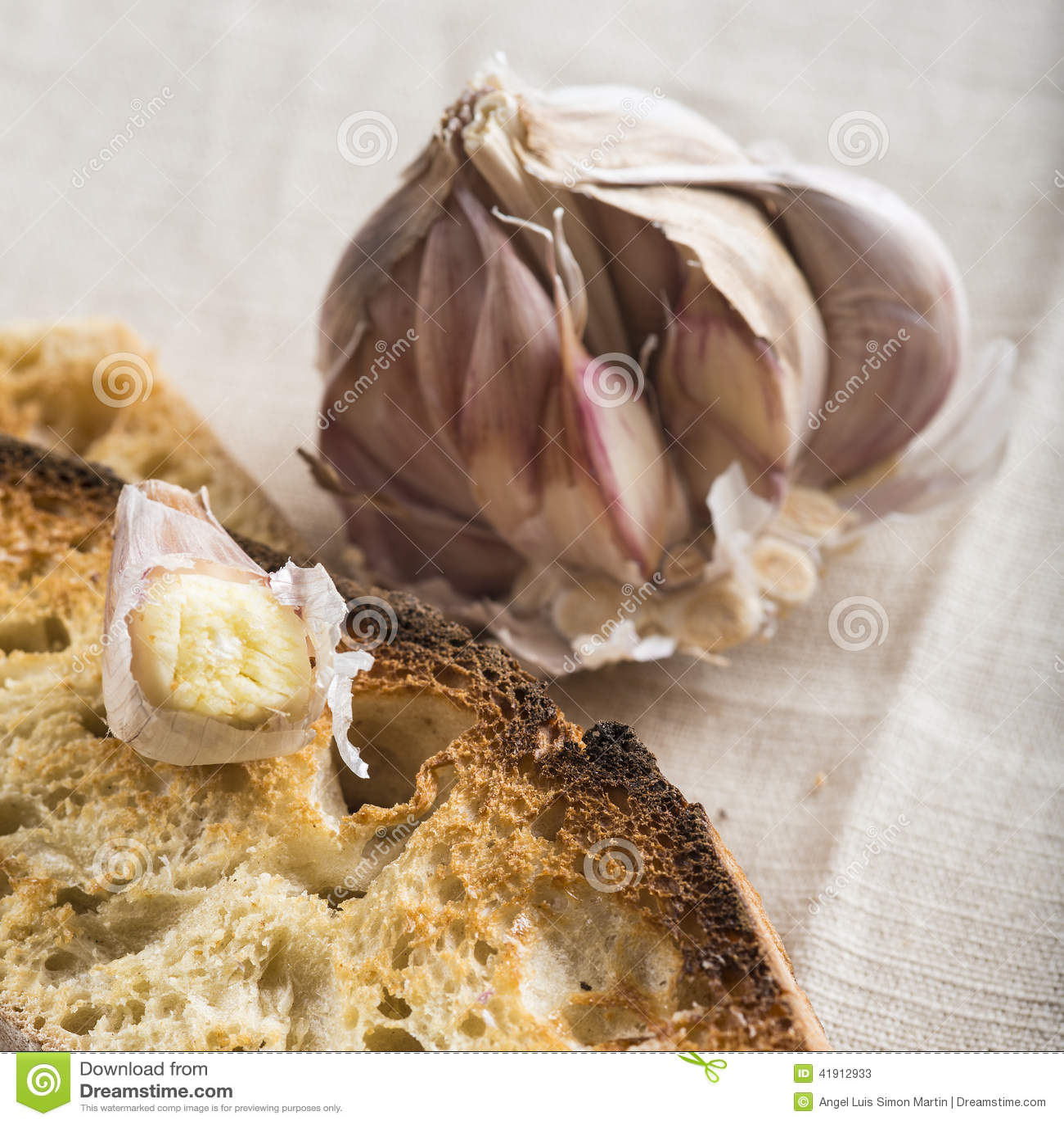 Czosnku chleba grzanki