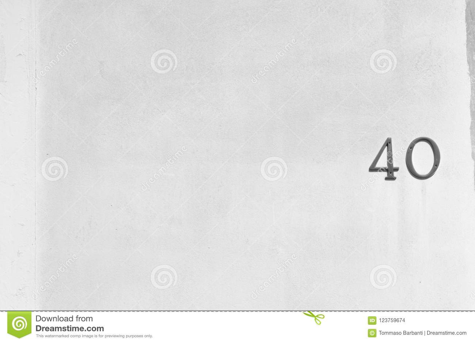 Czterdzieści numerowy - Domowej liczby tło