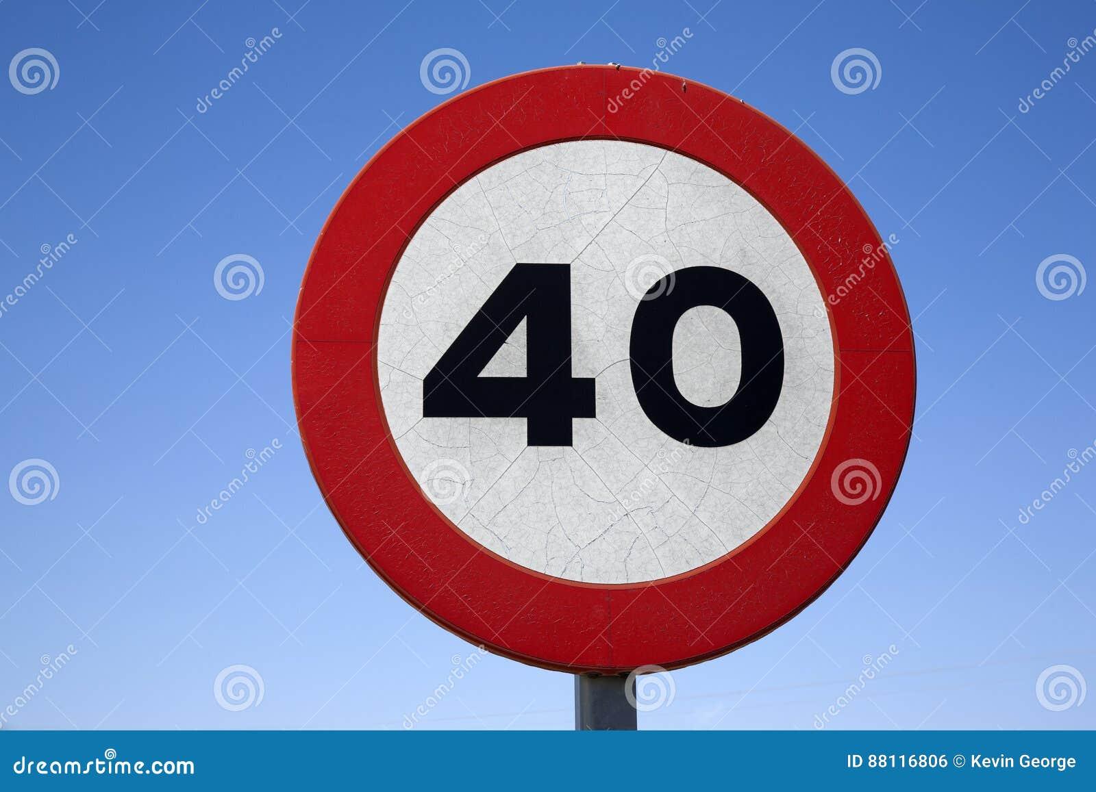 Czterdzieści prędkości znak