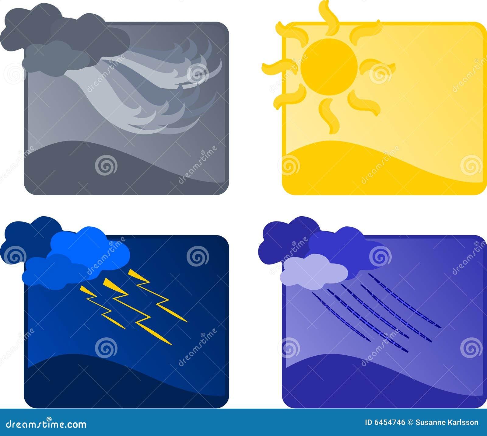 Cztery ikon pogoda