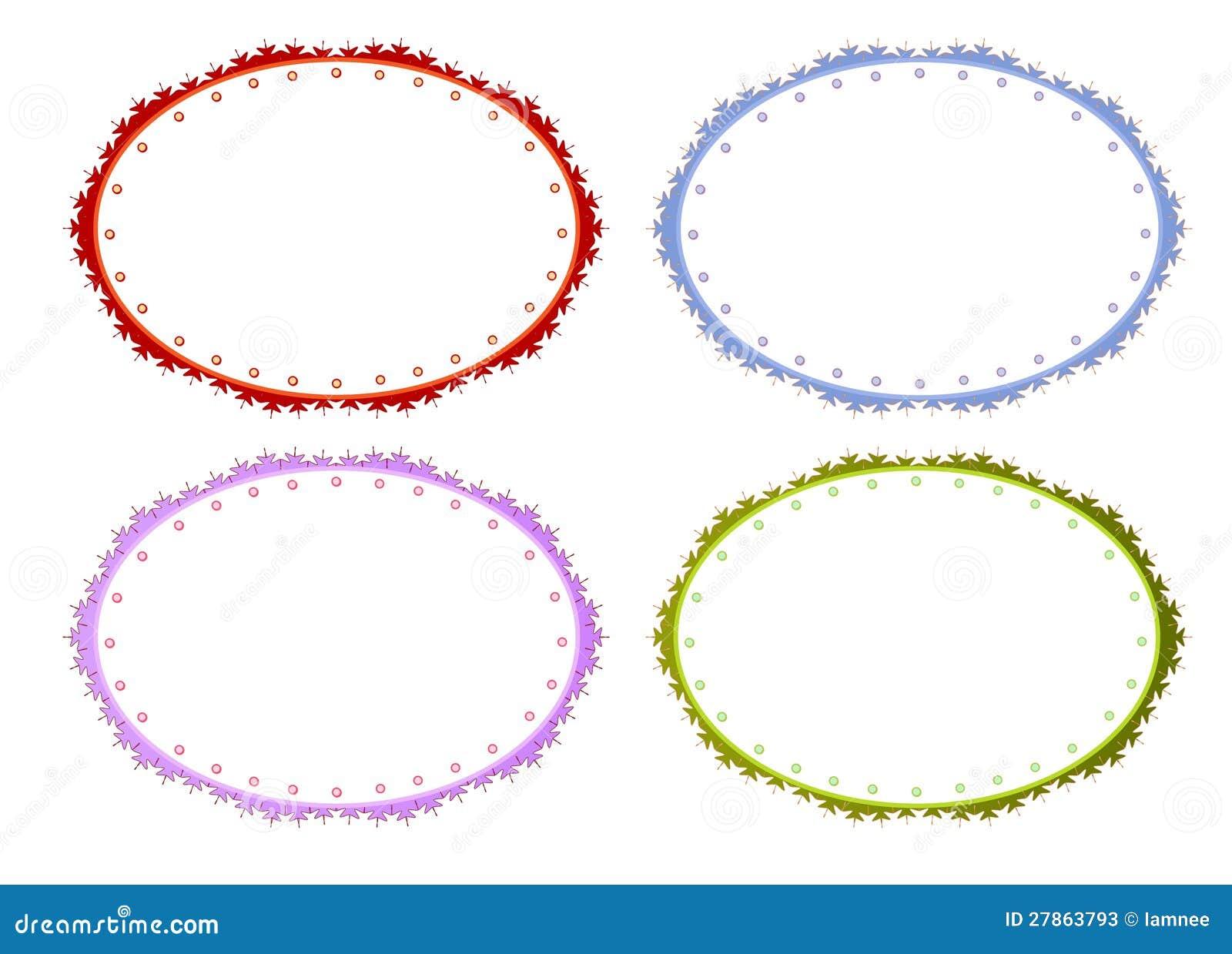 Cztery Koloru Okręgu Ramy w Rocznika Stylu