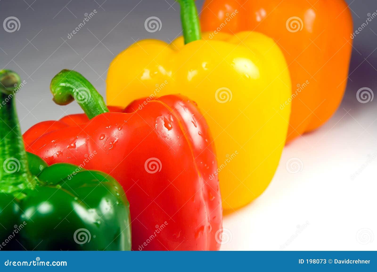 Cztery peppera, mokre