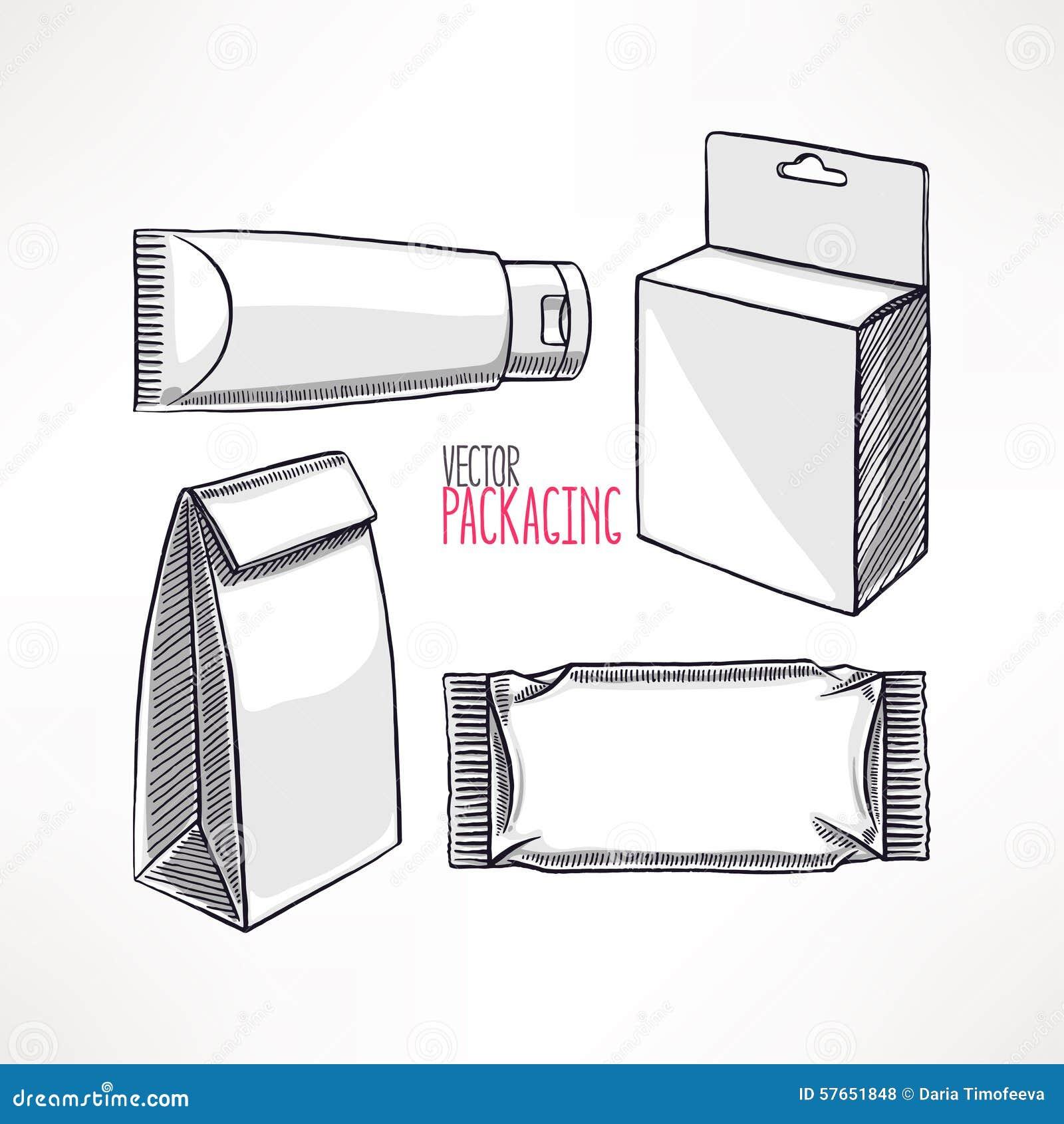 Cztery różnego typ pakować