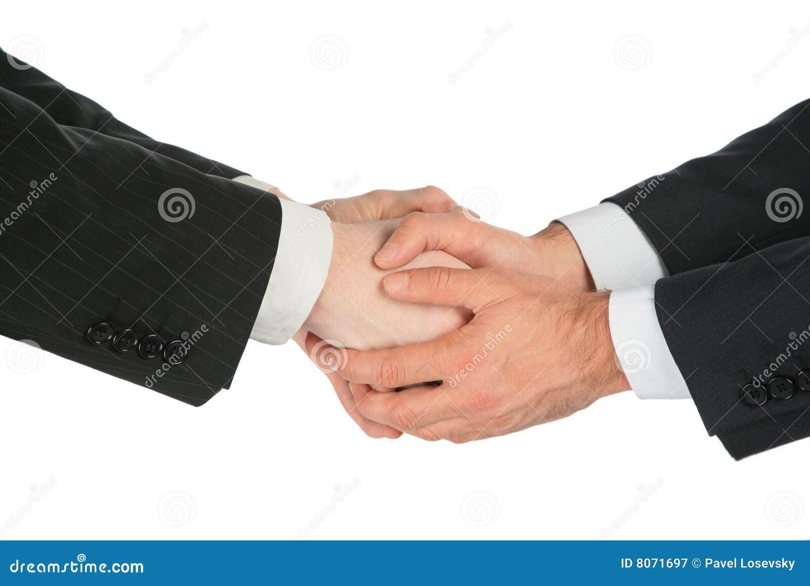 Cztery ręk handshaking