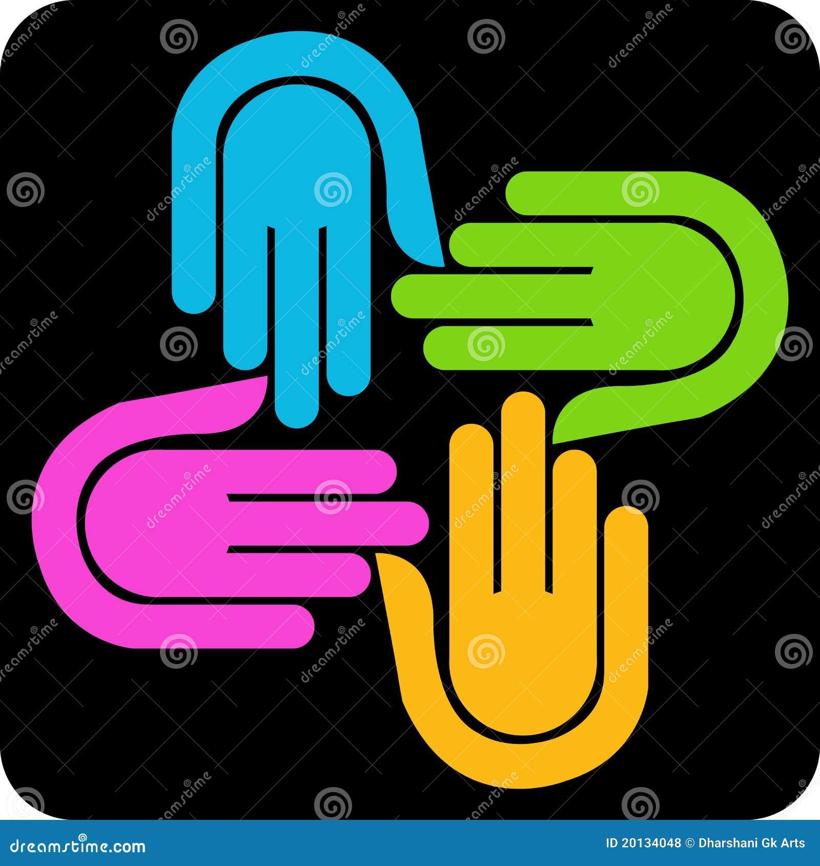 Cztery ręk logo
