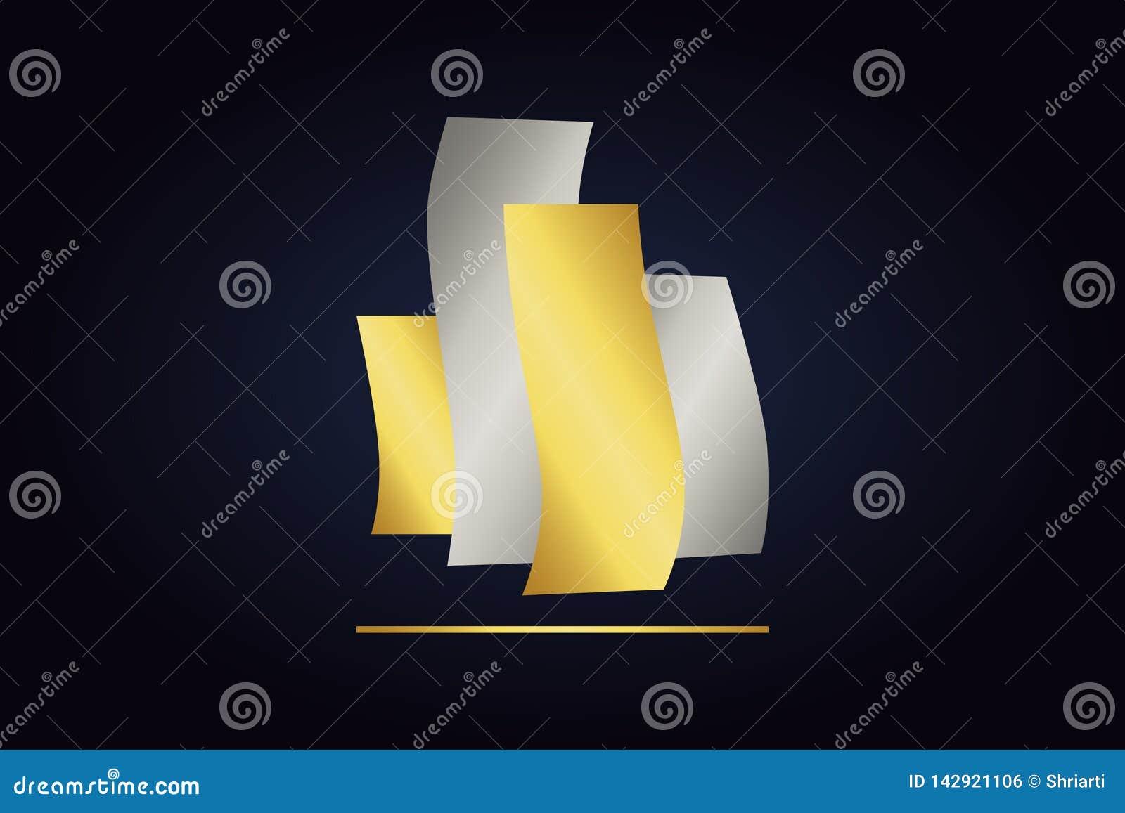Cztery wyginającego się metalu przedmiota z linią prostą pod
