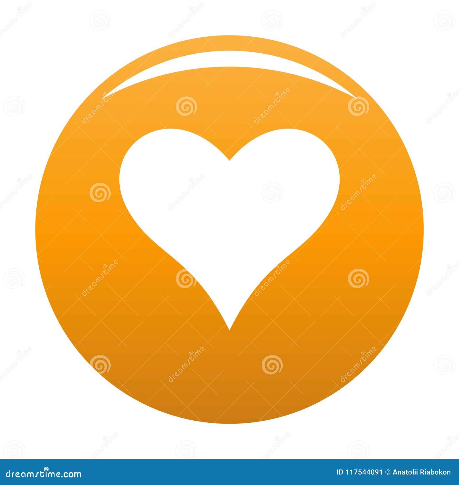 Czule kierowa ikona wektoru pomarańcze