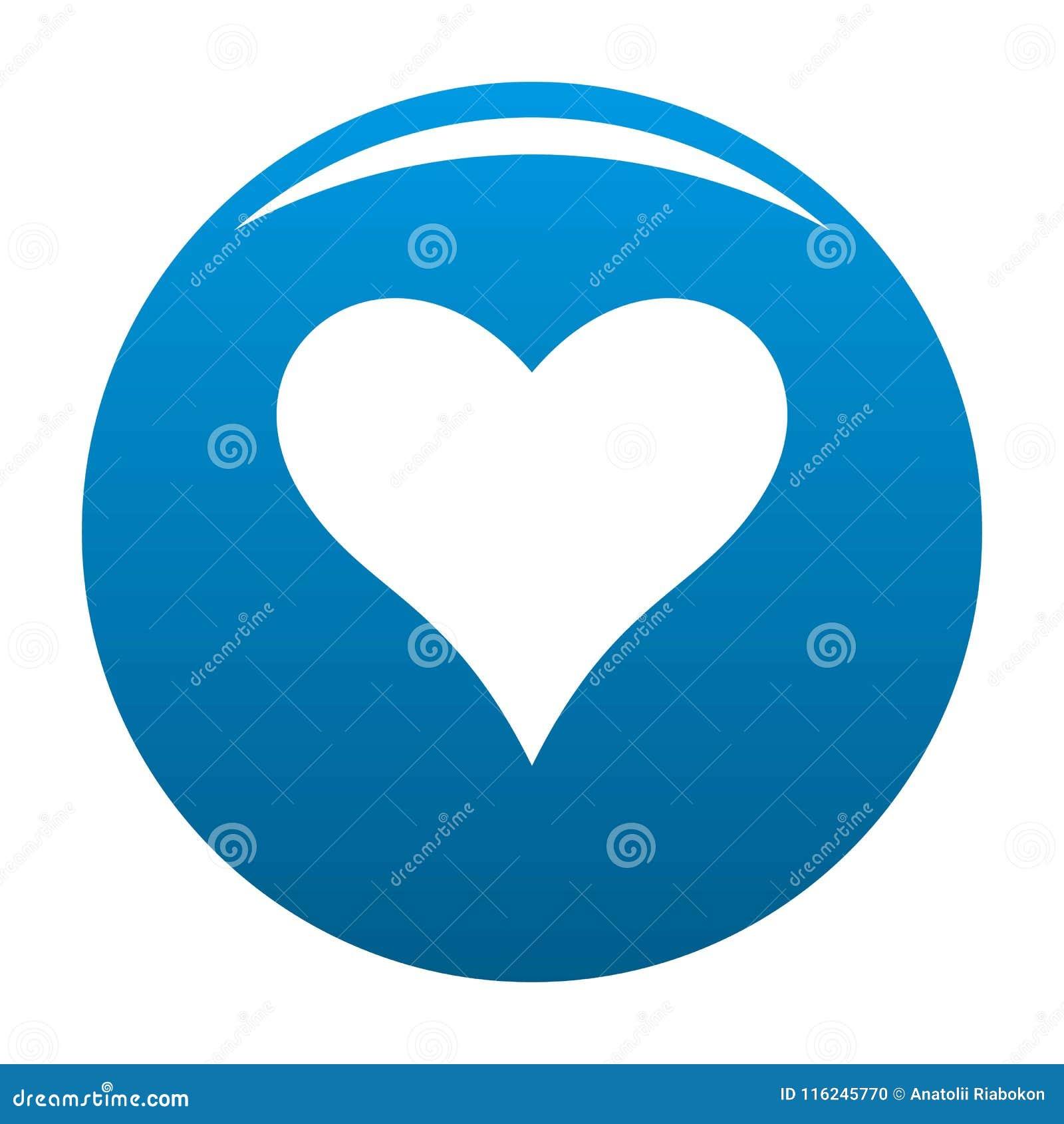 Czule kierowej ikony wektorowy błękit