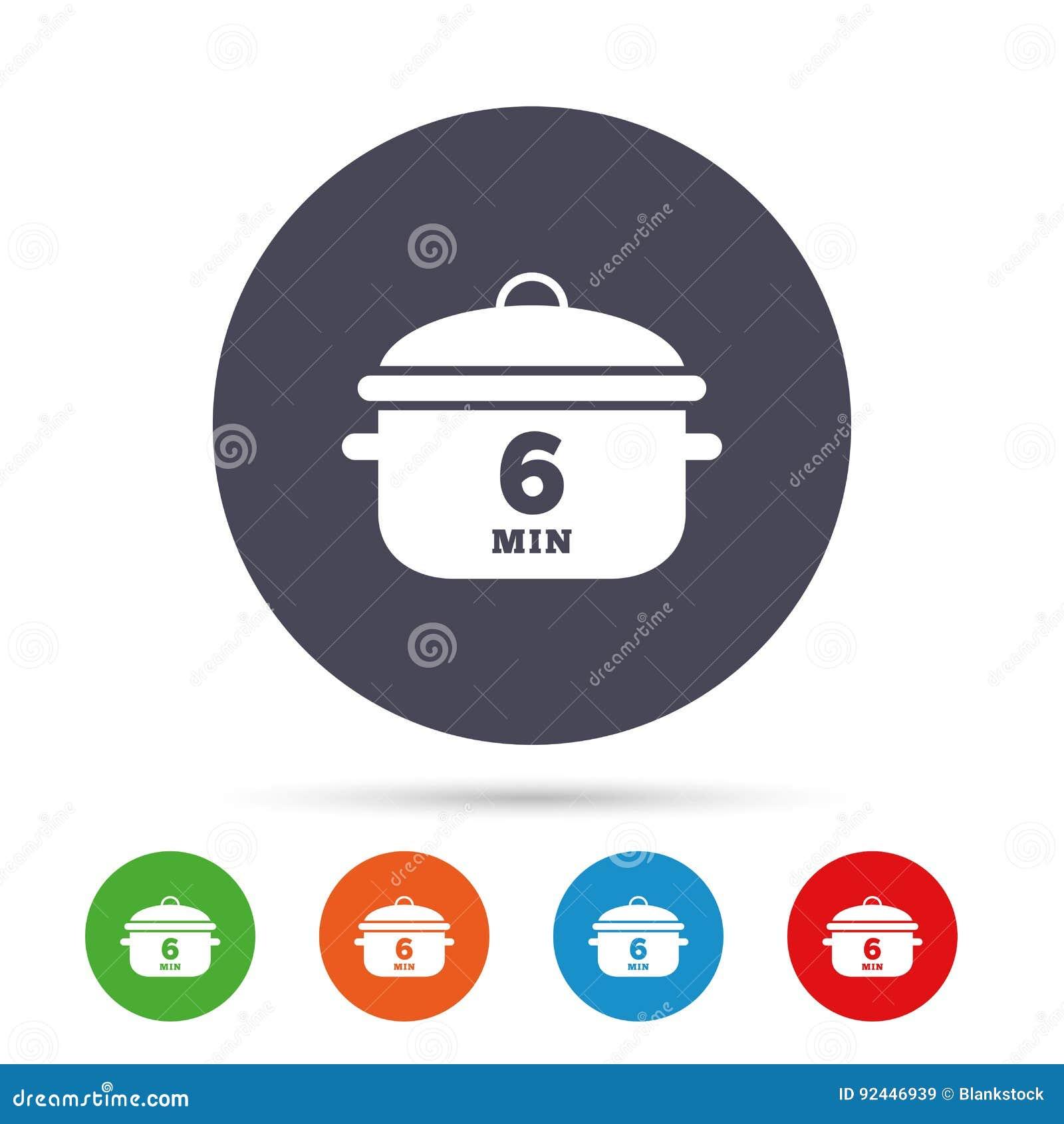 Czyrak 6 minut Kulinarna niecka znaka ikona Gulaszu jedzenie