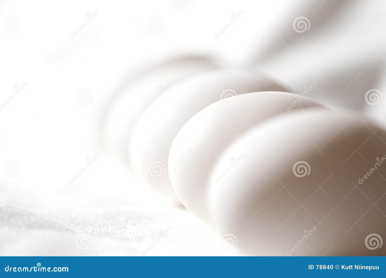Czyste białe jajko