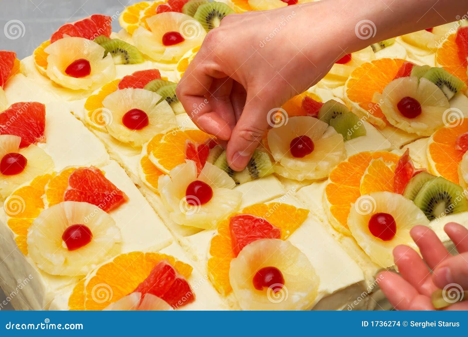 Favori Décoration Des Gâteaux De Fruit Images stock - Image: 1736274 FJ63
