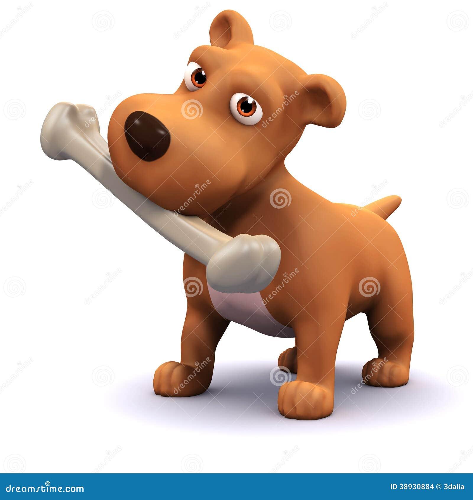 3d狗和骨头