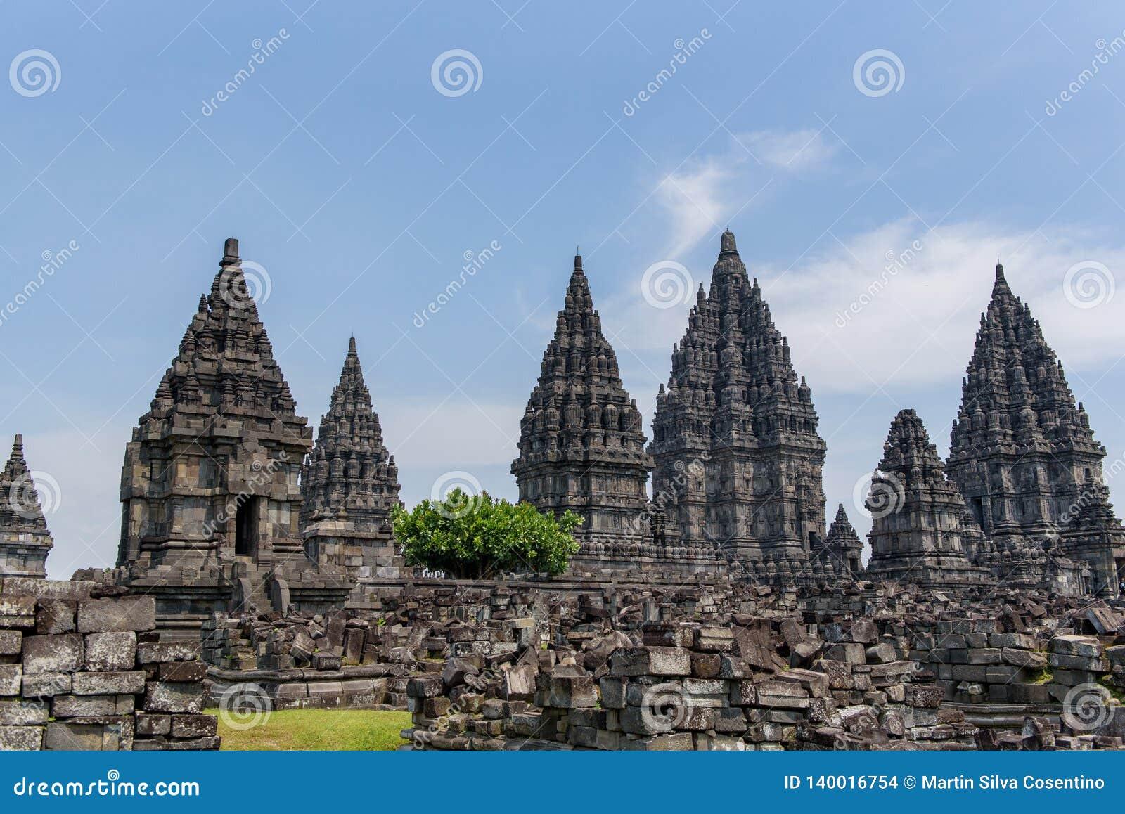 DÃa di EL del durante di Templo de Borobudur, Yogyakarta, Java, Indonesia