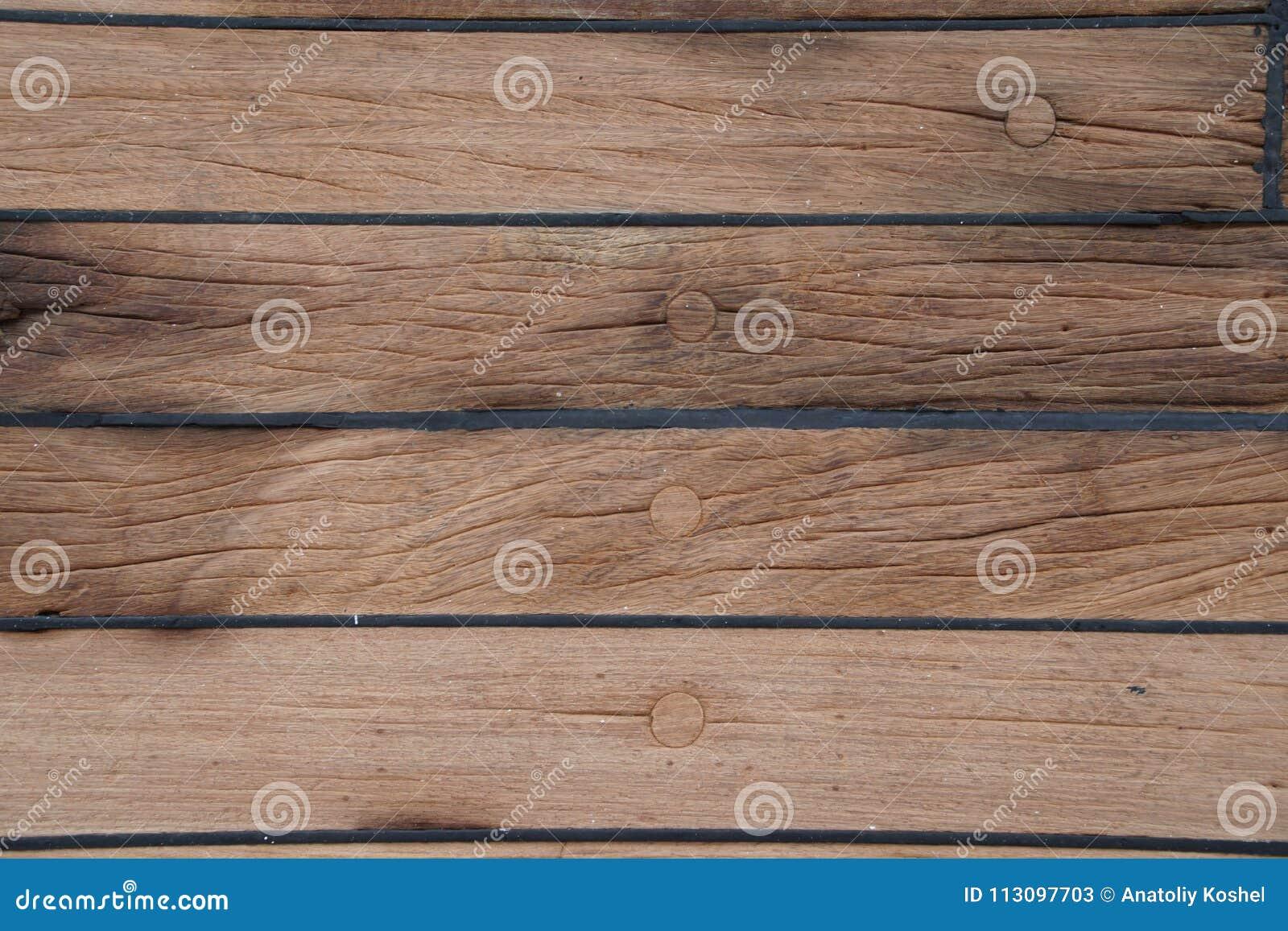 Däcket är på skeppet Trä texturerar yttersida medf8ort