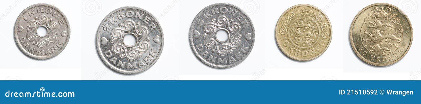 Dänische Münzen Stockfoto Bild Von Dänisch Münze Land 21510592