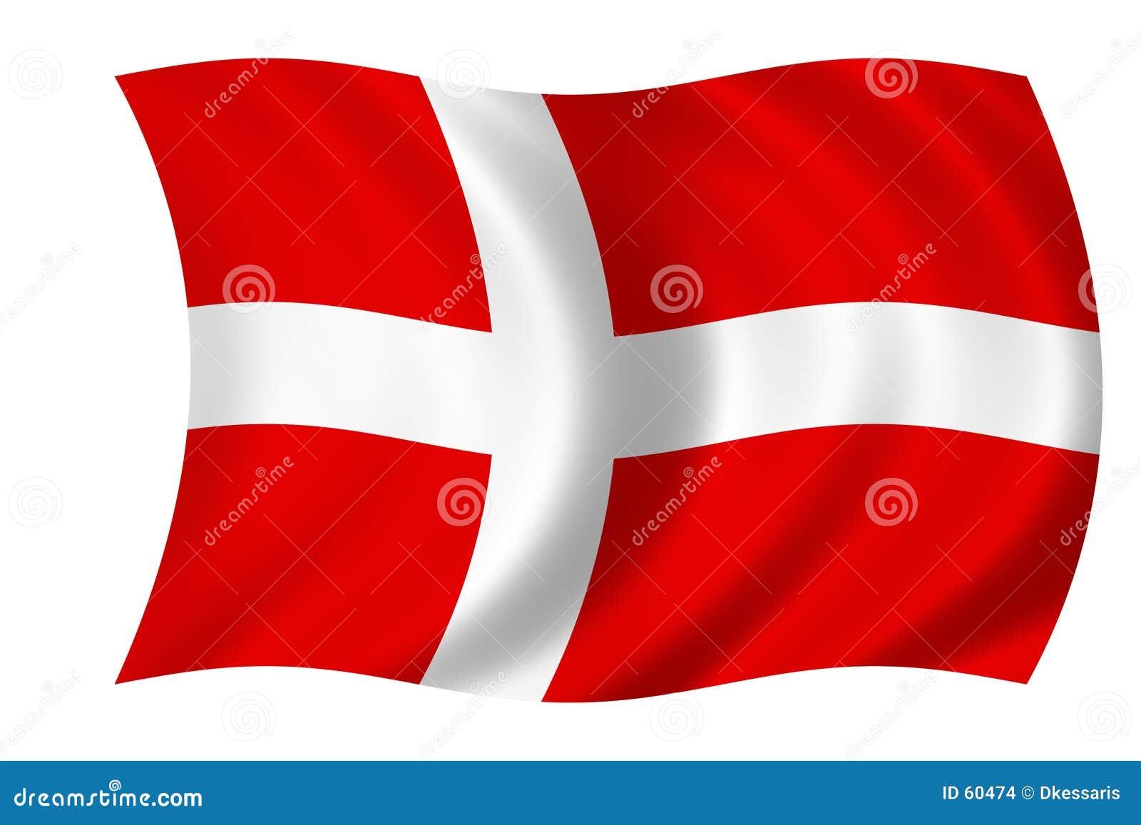 Dänische Markierungsfahne