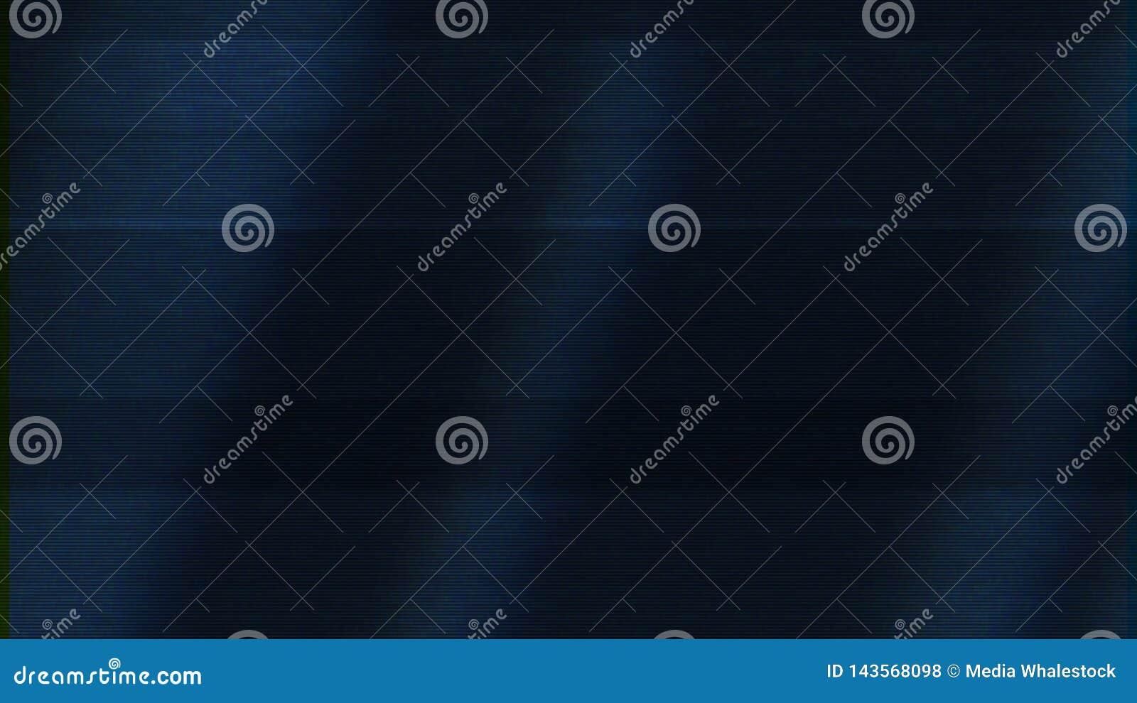 Dålig TVsignal på mörkt - blå skärm, sömlös ögla djur Abstrakt animering med oväsenet på TVskärmen, rörelse av